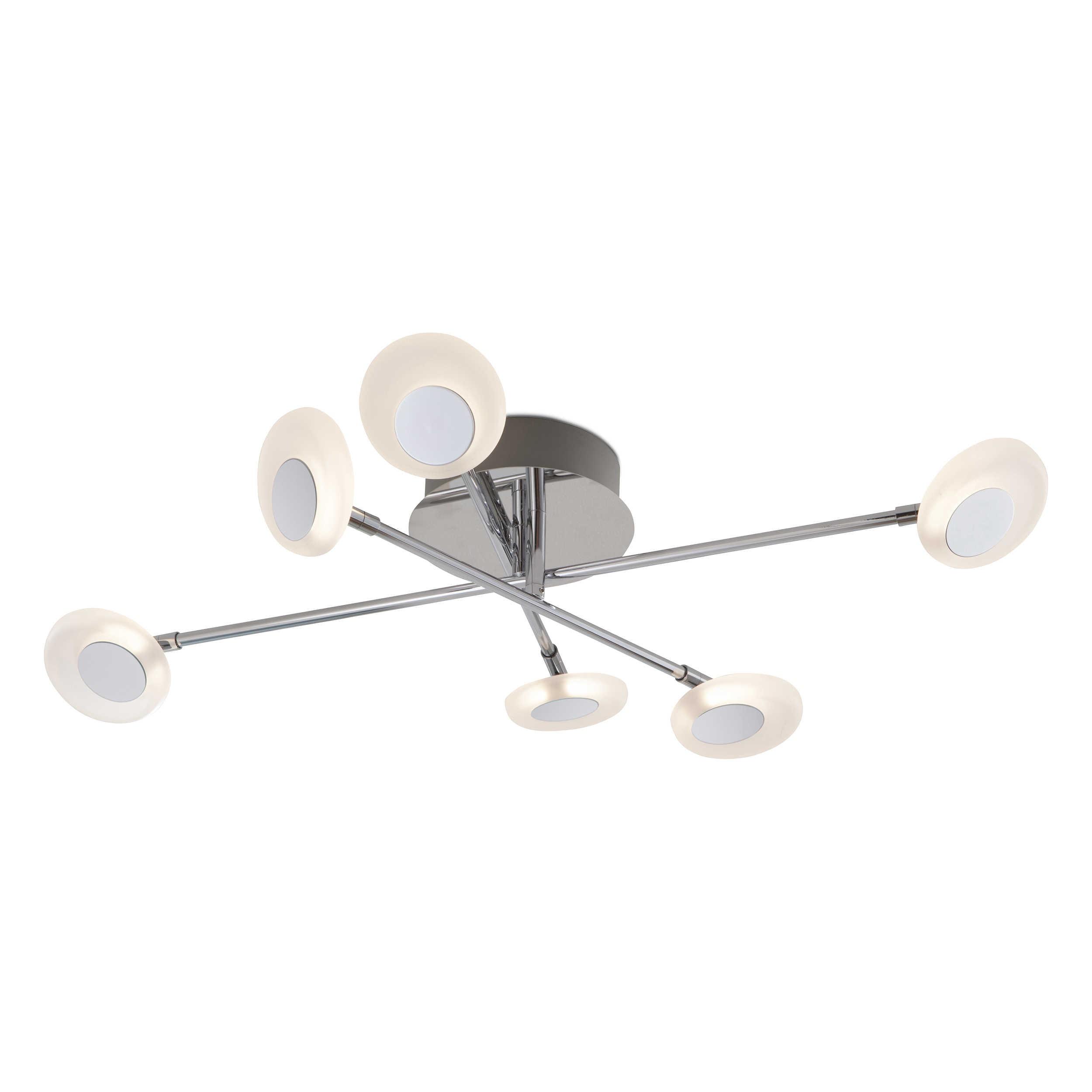 Designer Deckenleuchte Roma 30 Kaufen: DesignLive LED-Deckenleuchte Palma A+ Nickel Chrom,Alu