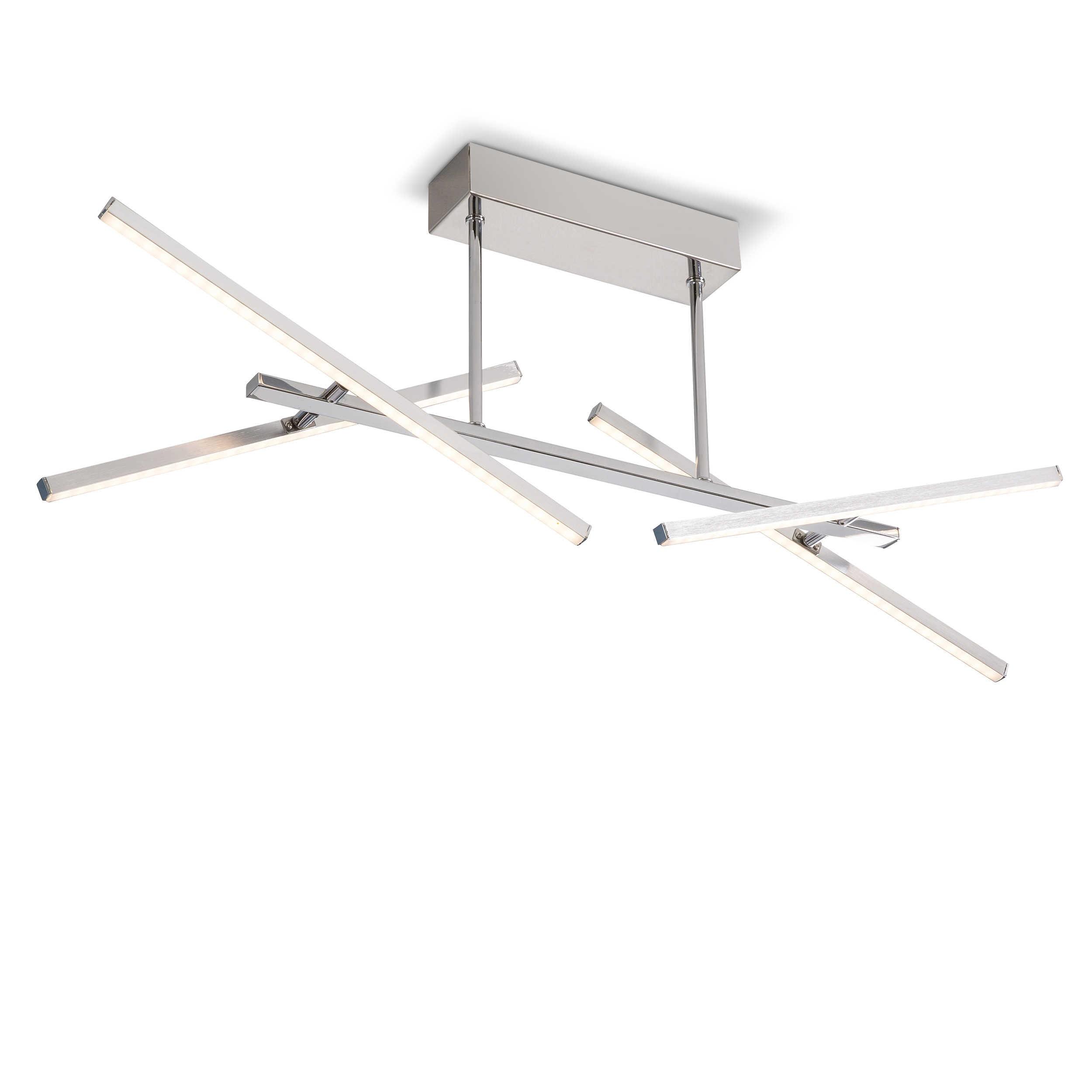 Designer Deckenleuchte Roma 30 Kaufen: DesignLive LED-Deckenleuchte Pinatubo A+ Silber Chrom,Alu