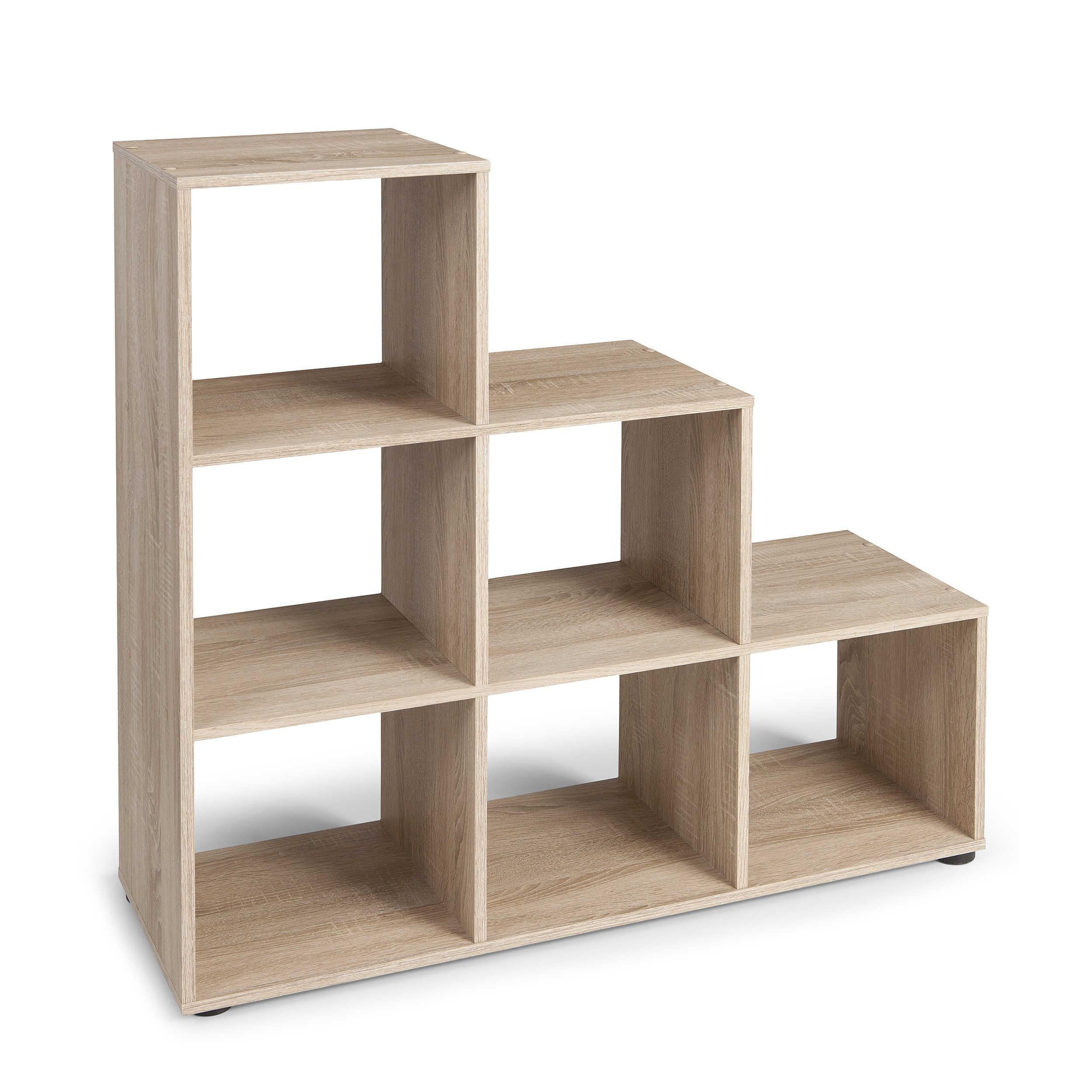 fmd regal funari eiche holzoptik online kaufen bei woonio. Black Bedroom Furniture Sets. Home Design Ideas