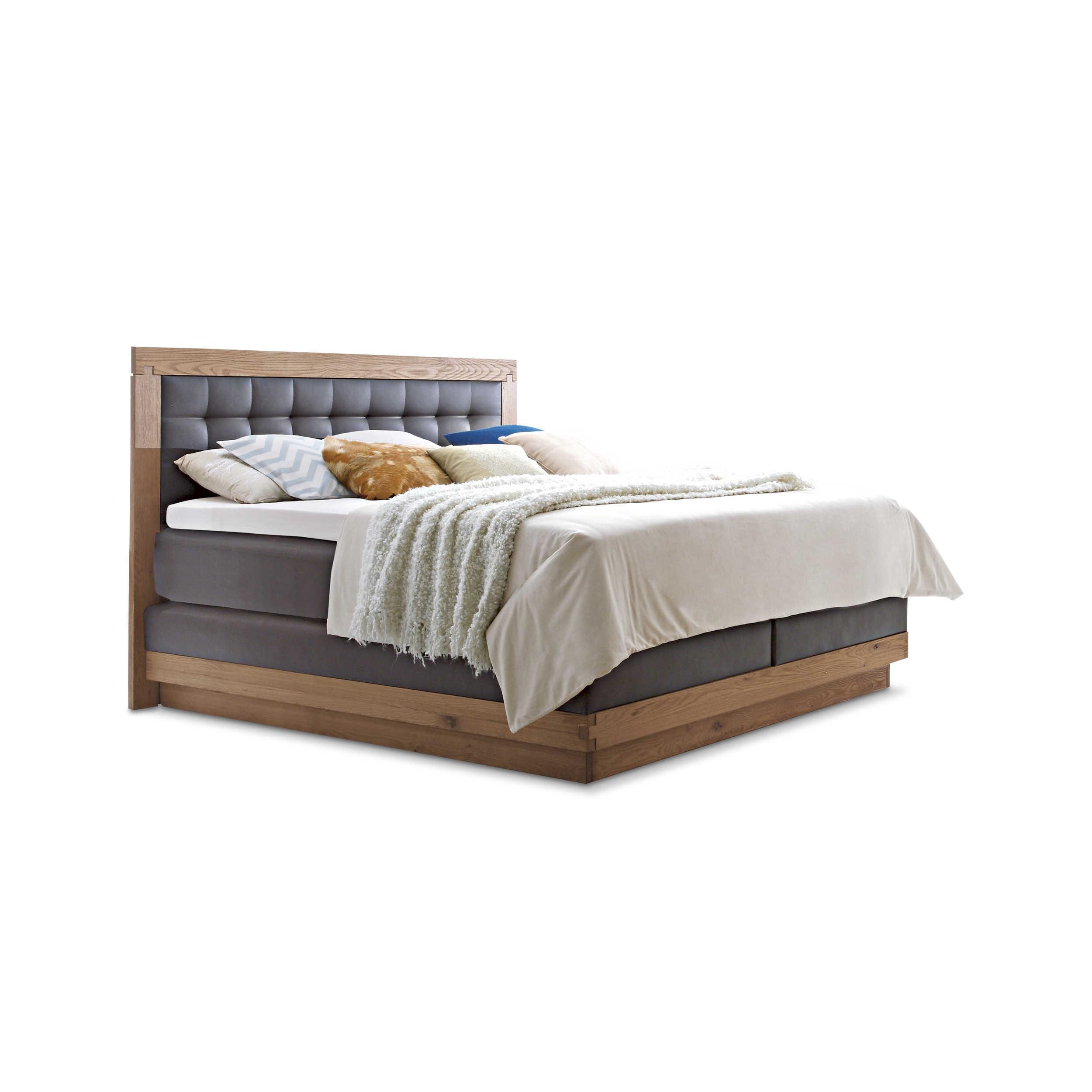 hasena boxspringbett massiva 180 x 200 cm eiche holz online kaufen bei woonio. Black Bedroom Furniture Sets. Home Design Ideas