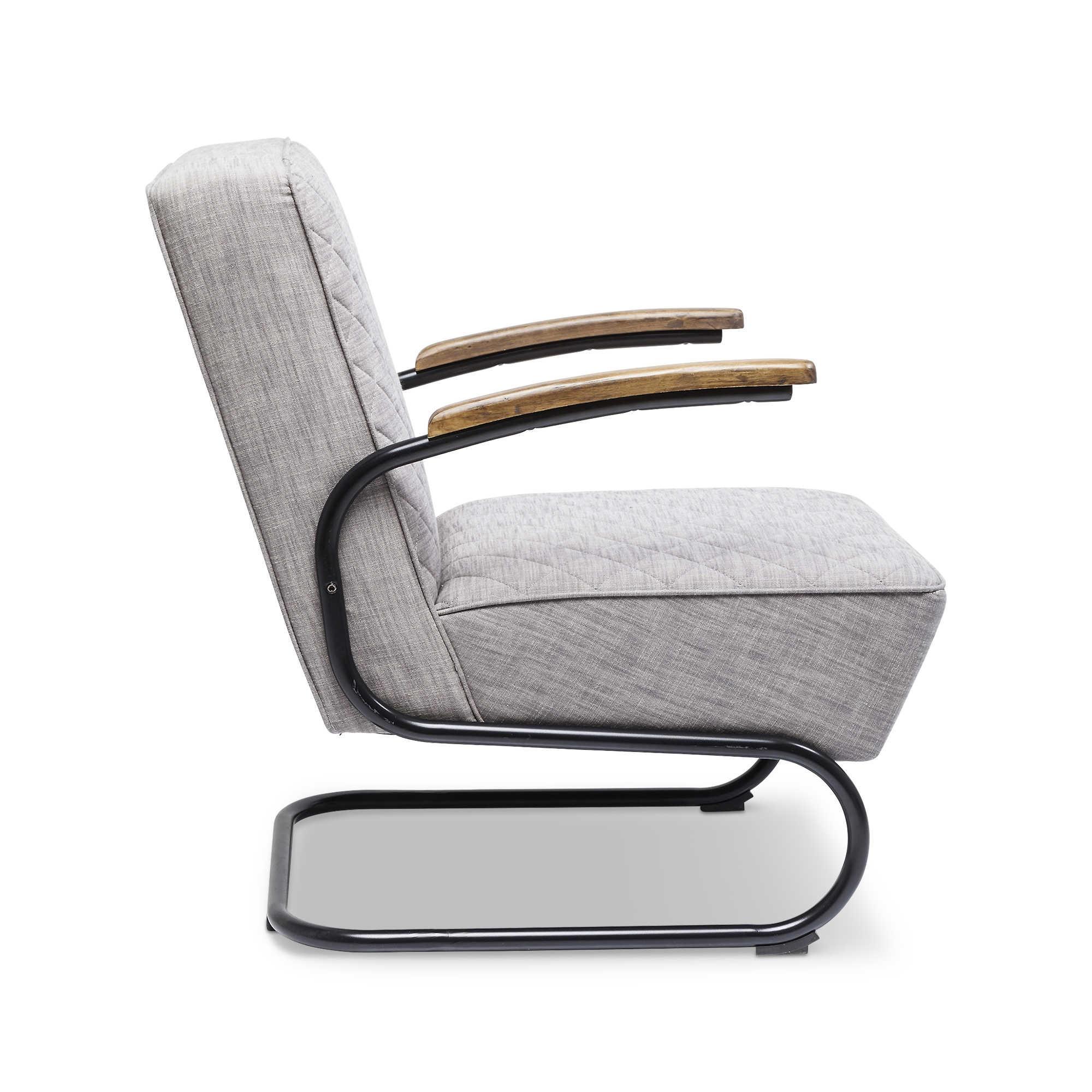 KARE Sessel Chicago Grau Stoff online kaufen bei WOONIO