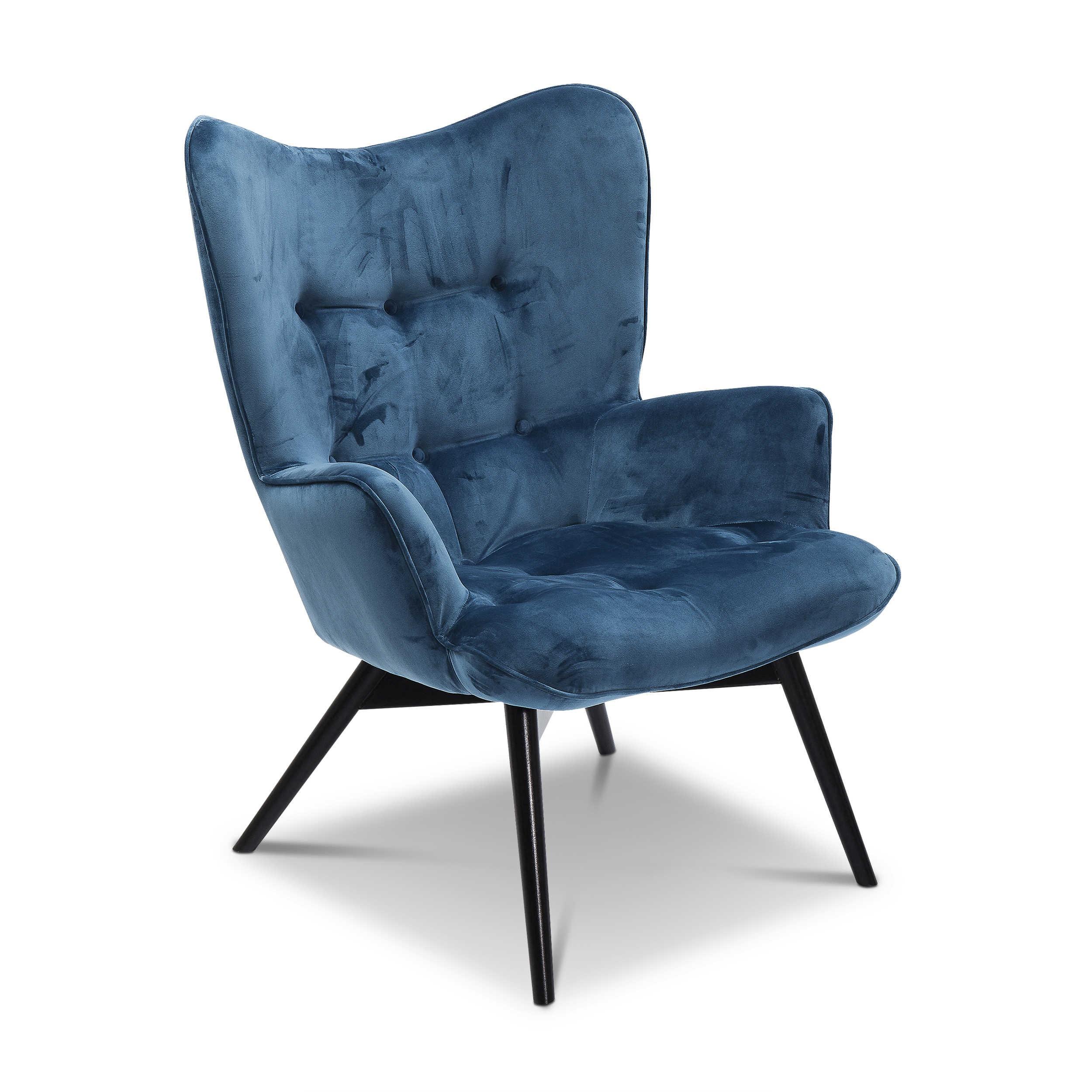 KARE Sessel Vicky Blau Stoff online kaufen bei WOONIO