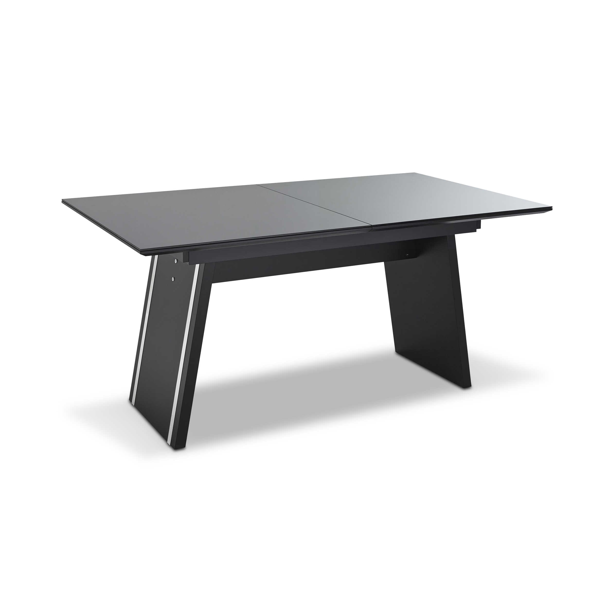leonardo living esstisch mit auszug cube 160 240 x 90 cm schwarz glas online kaufen bei woonio. Black Bedroom Furniture Sets. Home Design Ideas