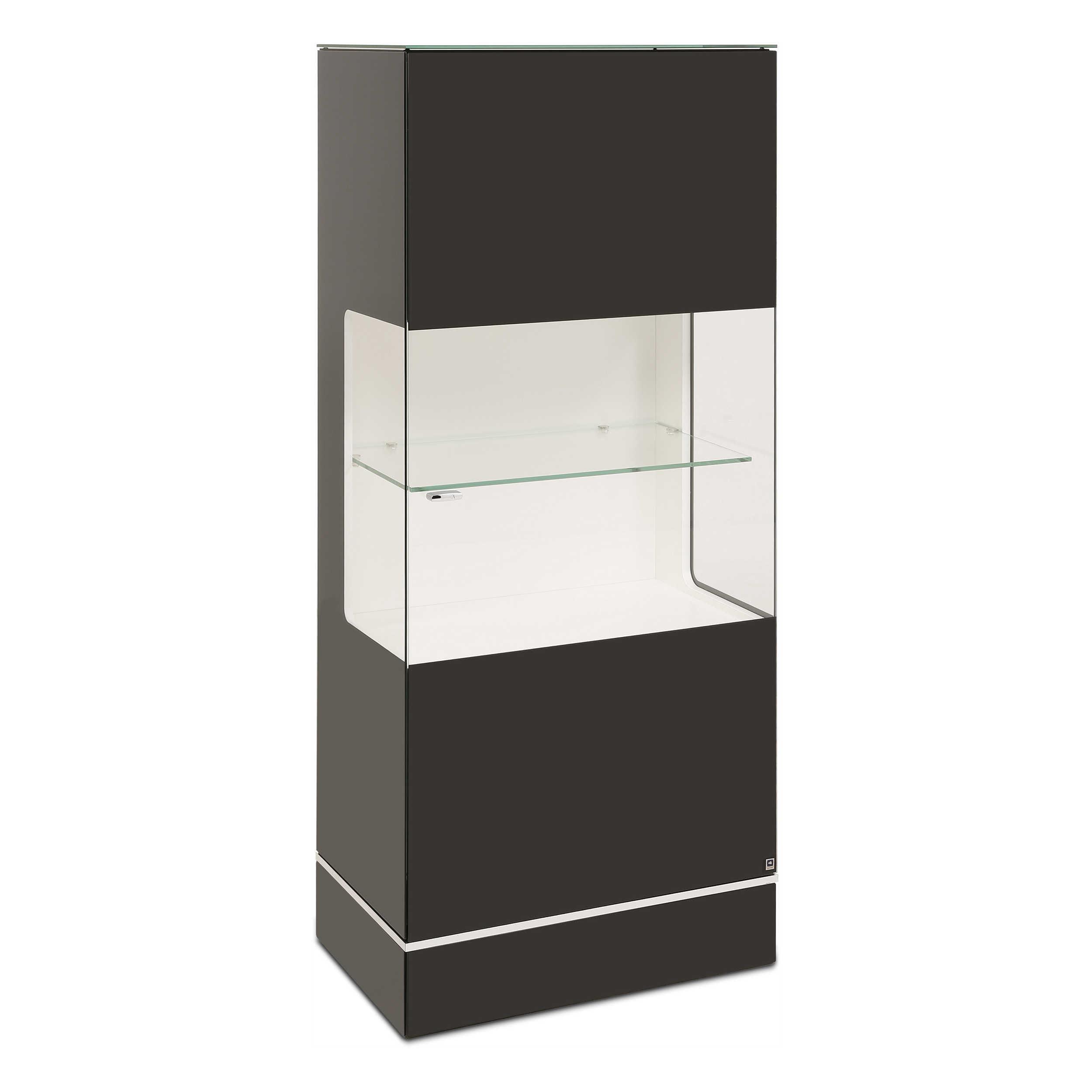 leonardo living highboard cube schwarz glas online kaufen. Black Bedroom Furniture Sets. Home Design Ideas
