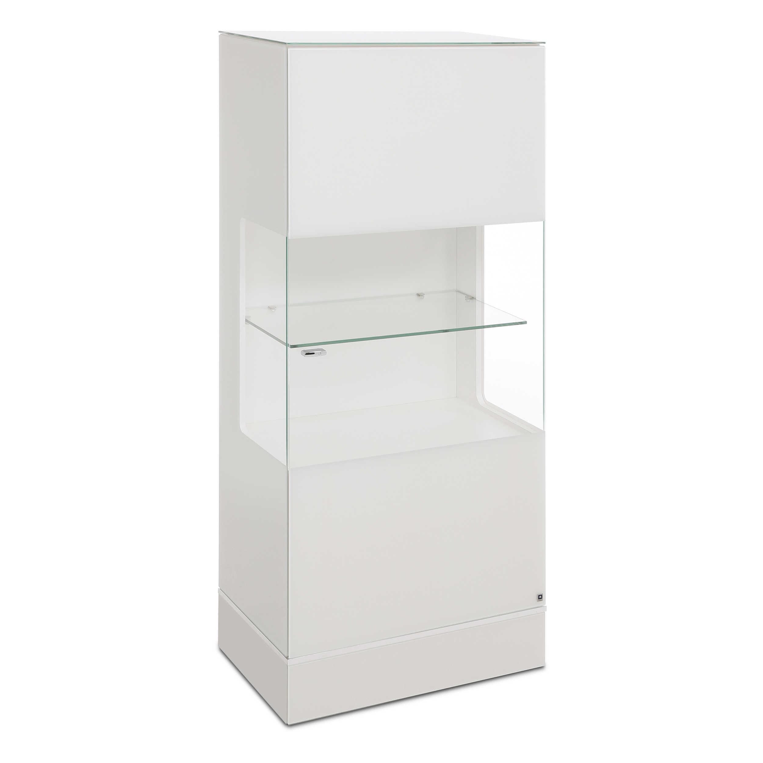 leonardo living highboard cube wei glas online kaufen bei. Black Bedroom Furniture Sets. Home Design Ideas