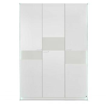 Leonardo Living Kleiderschrank Dream, 150 X 220 Cm A+ Weiß Lack / Hochglanz