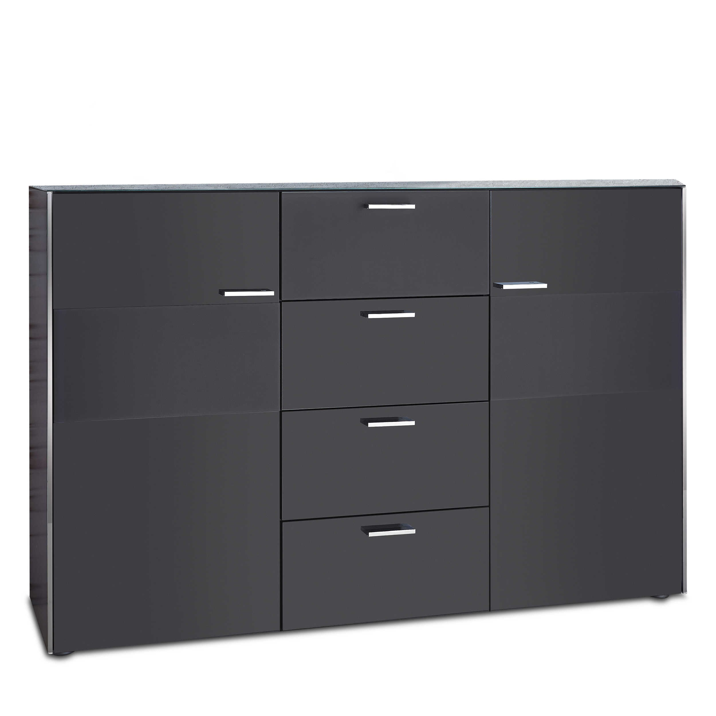 leonardo living kommode dream anthrazit lack hochglanz online kaufen bei woonio. Black Bedroom Furniture Sets. Home Design Ideas