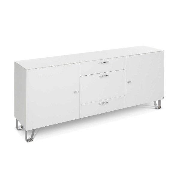 leonardo living sideboard cube wei glas online kaufen bei woonio. Black Bedroom Furniture Sets. Home Design Ideas