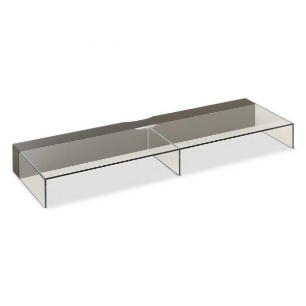 leonardo living tv lowboard aufsatz cube schwarz glas online kaufen bei woonio. Black Bedroom Furniture Sets. Home Design Ideas