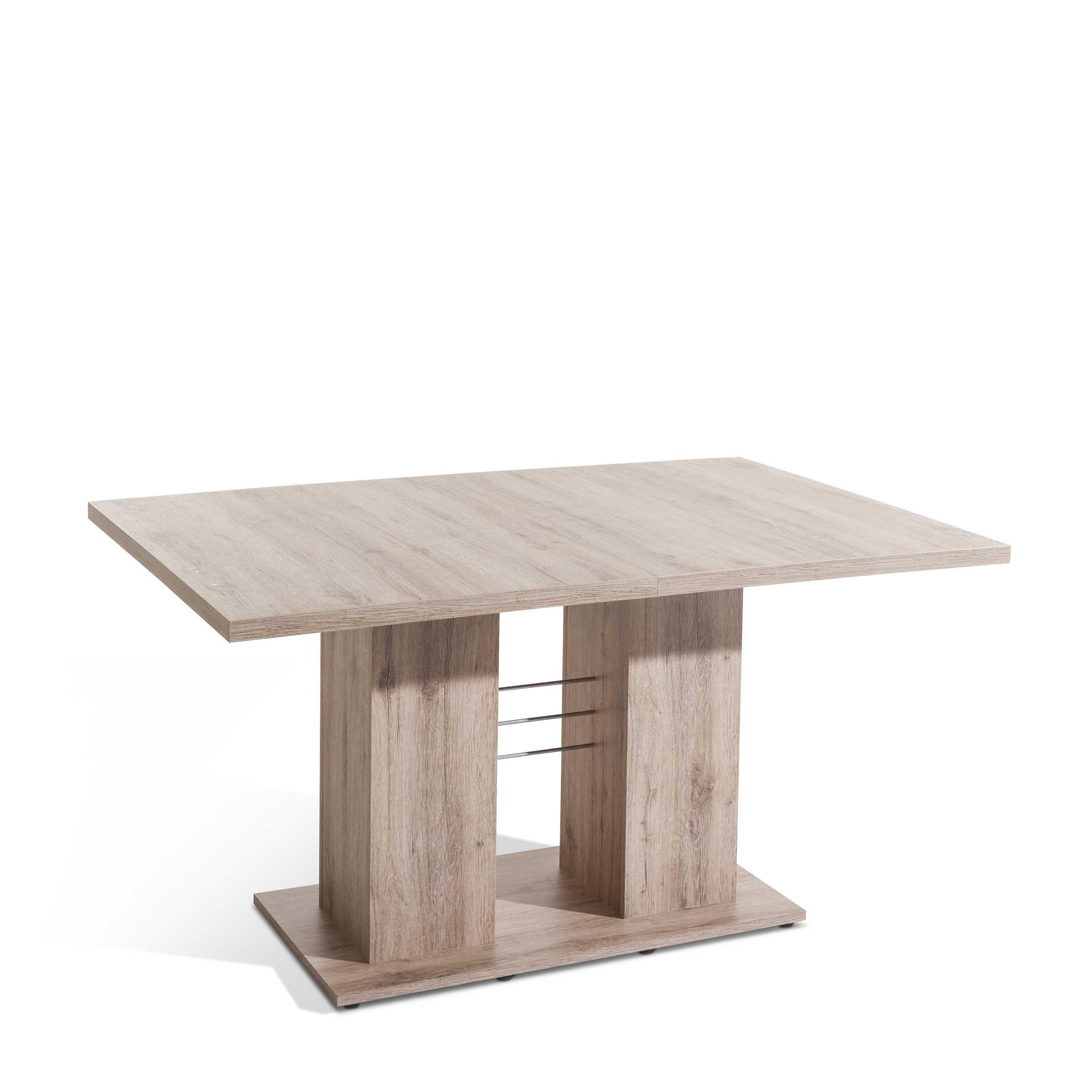 m usbacher esstisch mit auszug cabana 140 180 x 76 cm eiche holzoptik online kaufen bei woonio. Black Bedroom Furniture Sets. Home Design Ideas