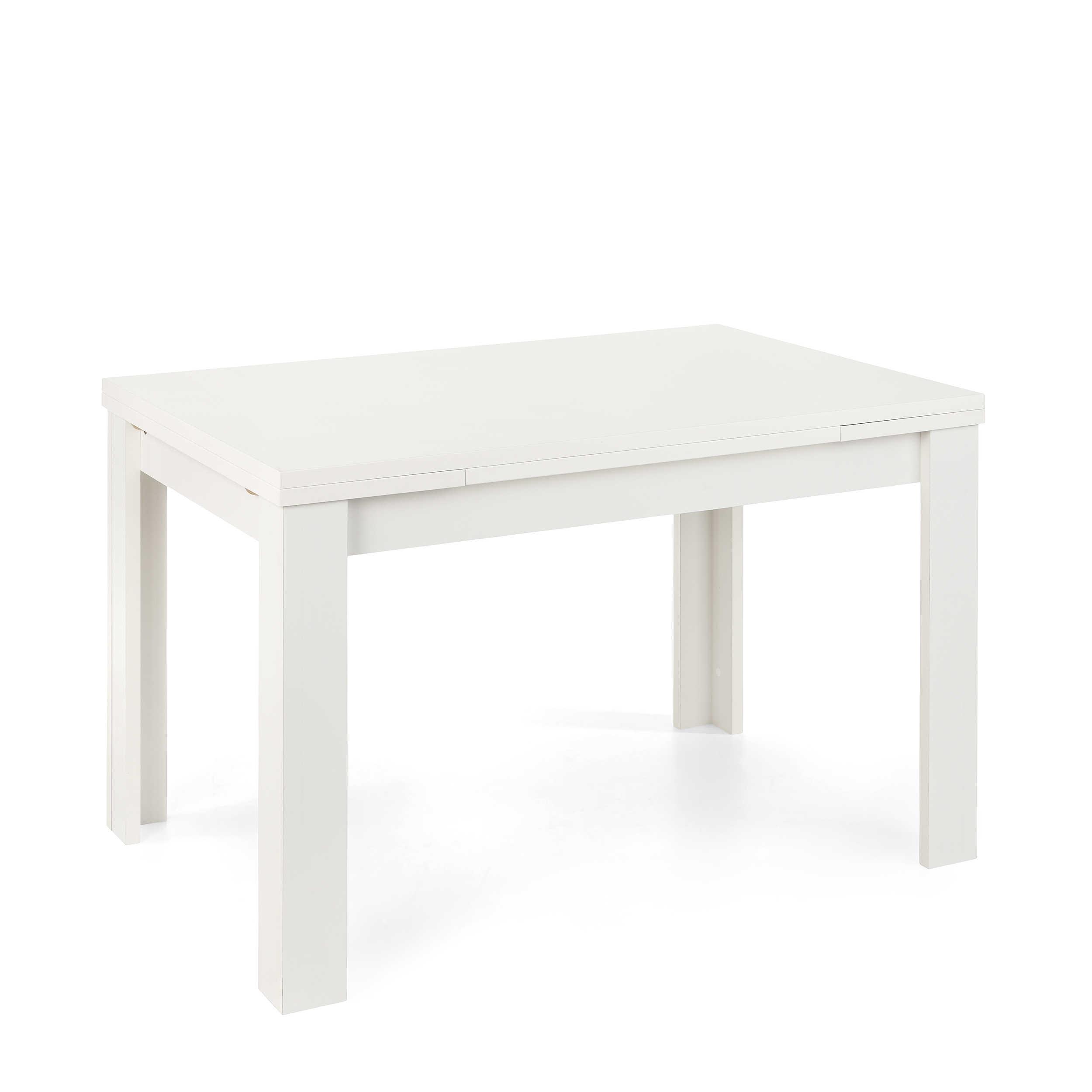 m usbacher esstisch mit auszug roma 120 176 x 80 cm wei kunststoff 120 cm online kaufen bei woonio. Black Bedroom Furniture Sets. Home Design Ideas