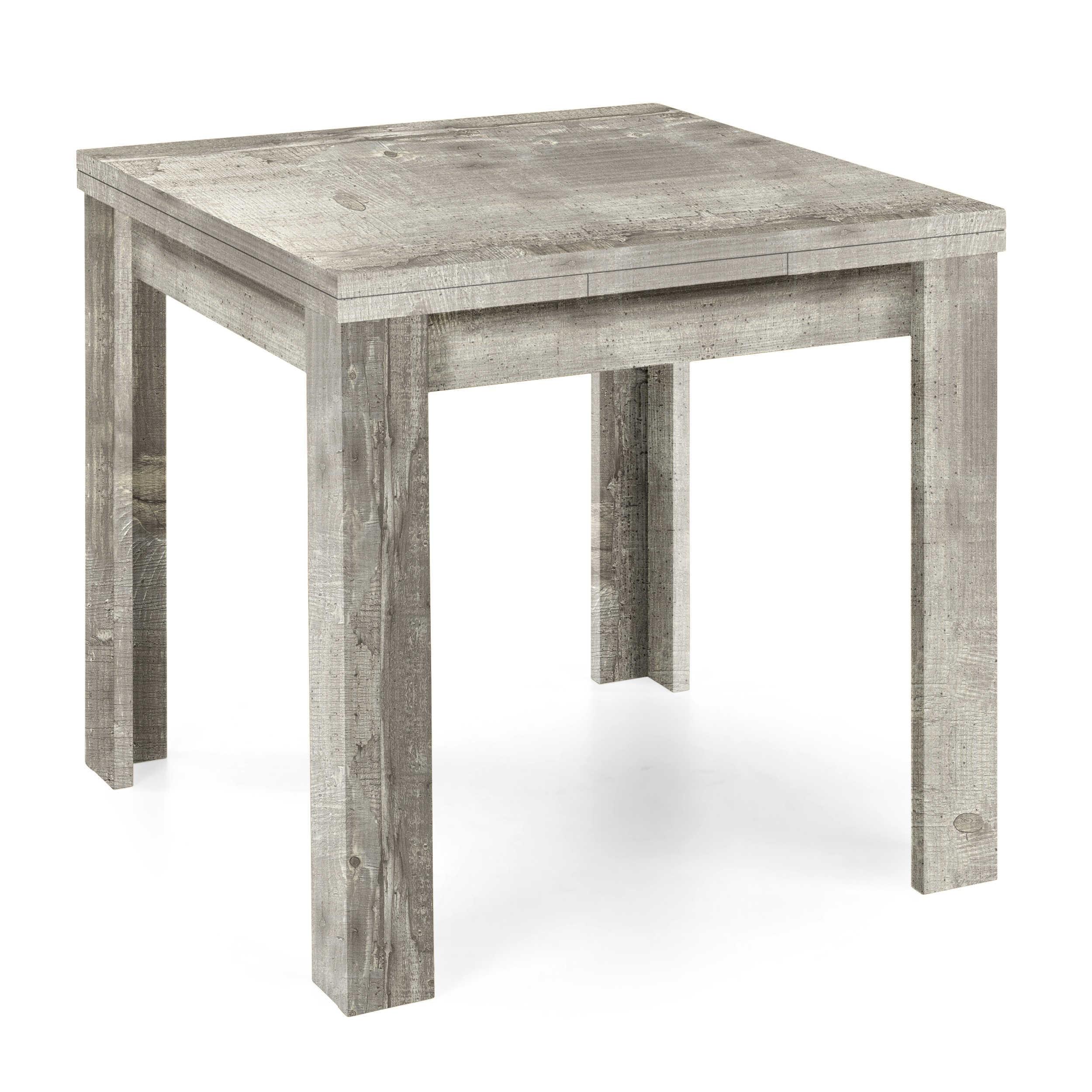 m usbacher esstisch mit auszug roma 80 136 x 80 cm grau kunststoff online kaufen bei woonio. Black Bedroom Furniture Sets. Home Design Ideas