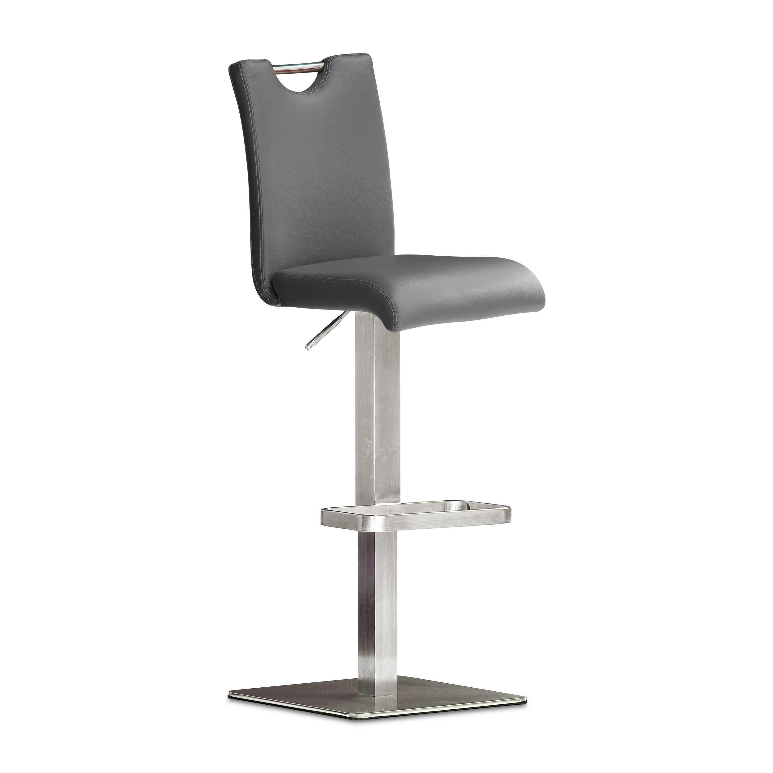 mca barhocker bardo grau lederoptik online kaufen bei woonio. Black Bedroom Furniture Sets. Home Design Ideas