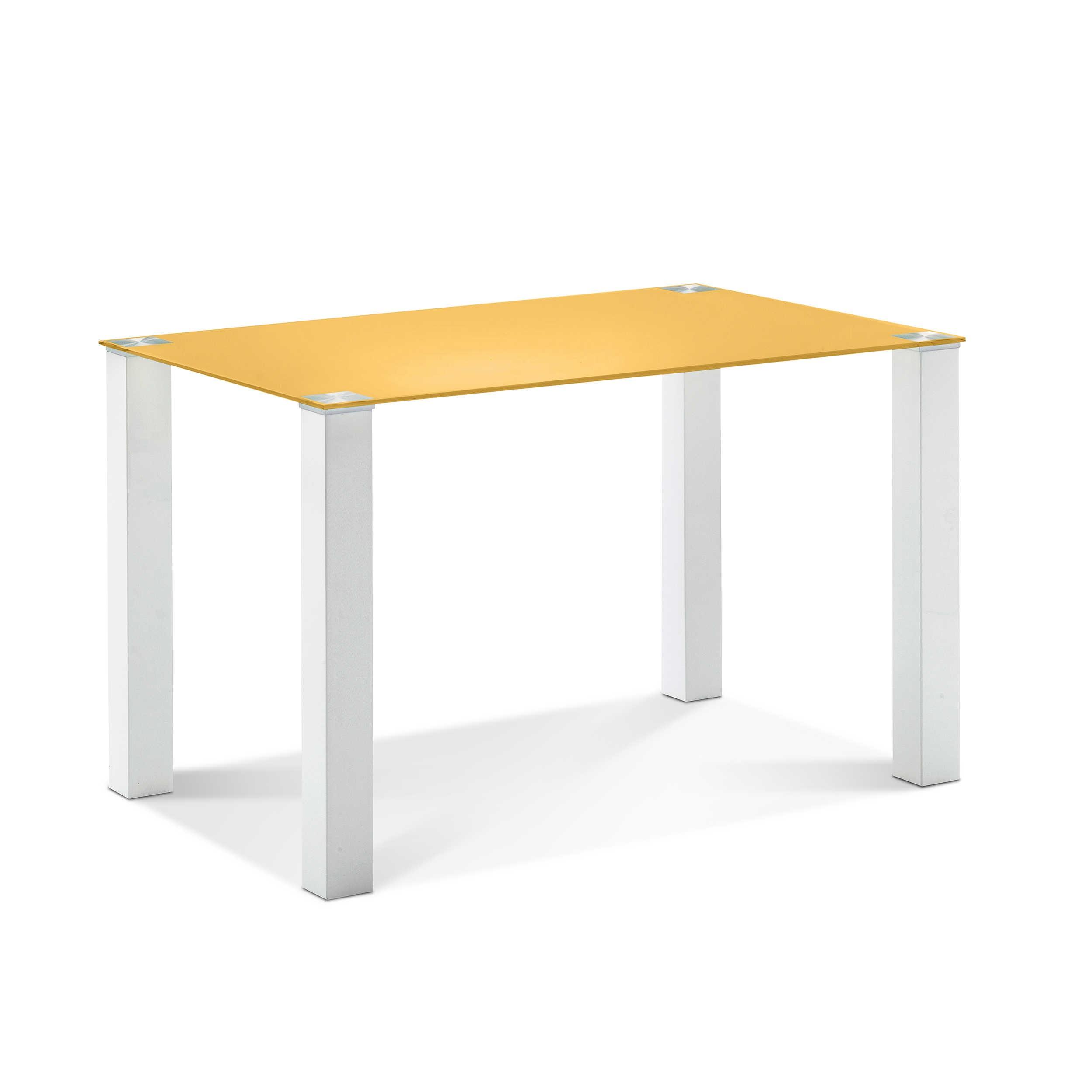 mca esstisch cintano 120 x 80 cm gelb glas online kaufen bei woonio. Black Bedroom Furniture Sets. Home Design Ideas