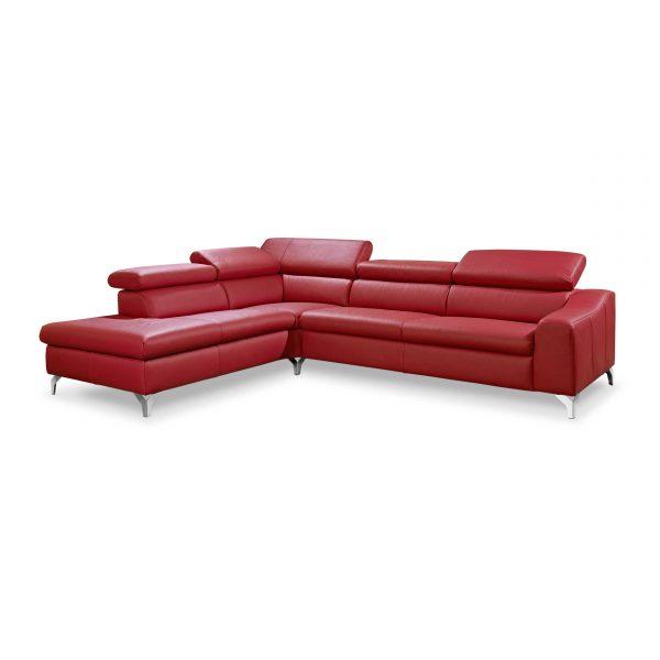 musterring ecksofa mr 4775 rot leder online kaufen bei woonio. Black Bedroom Furniture Sets. Home Design Ideas