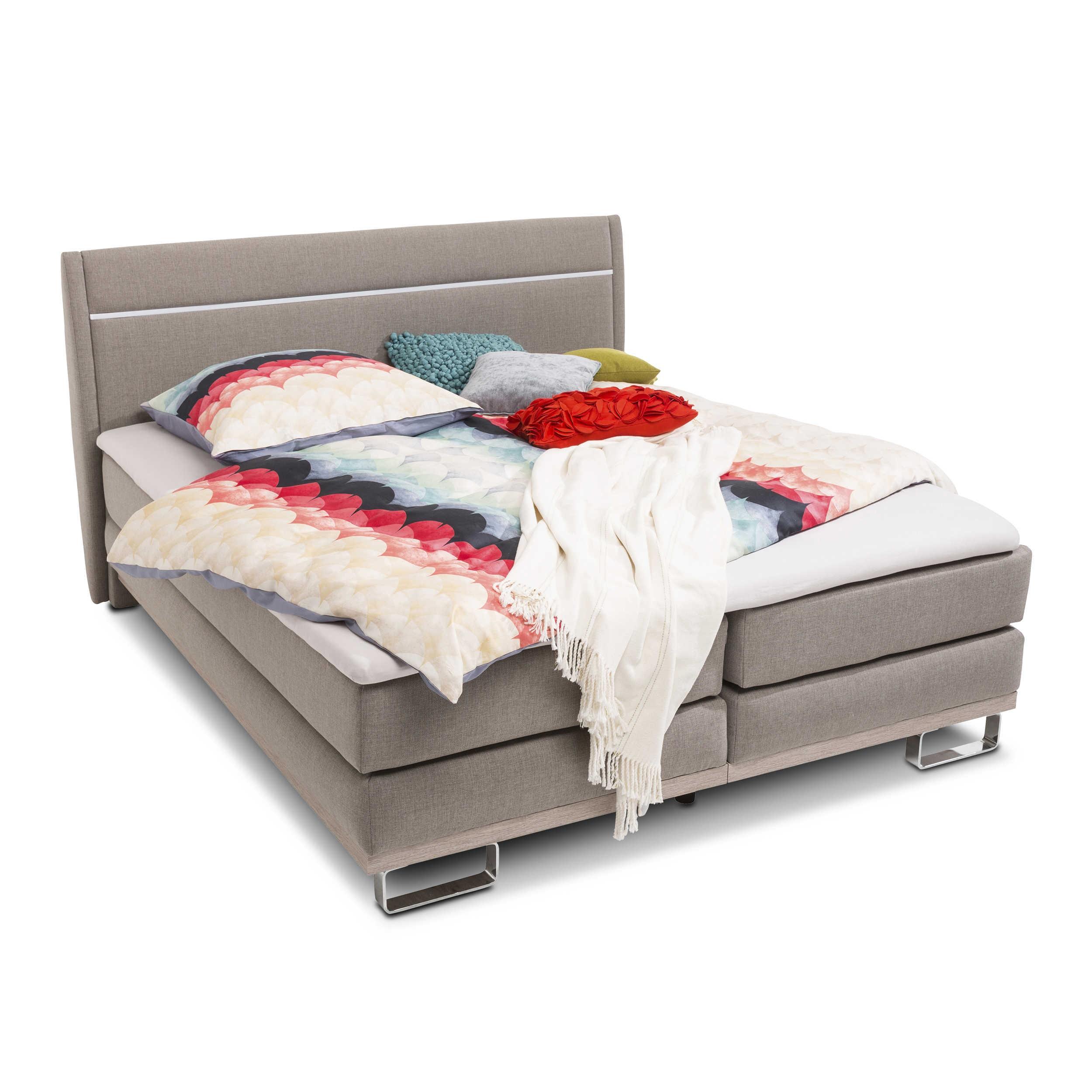 pol power boxspringbett orlando 180 x 200 cm a braun stoff online kaufen bei woonio. Black Bedroom Furniture Sets. Home Design Ideas