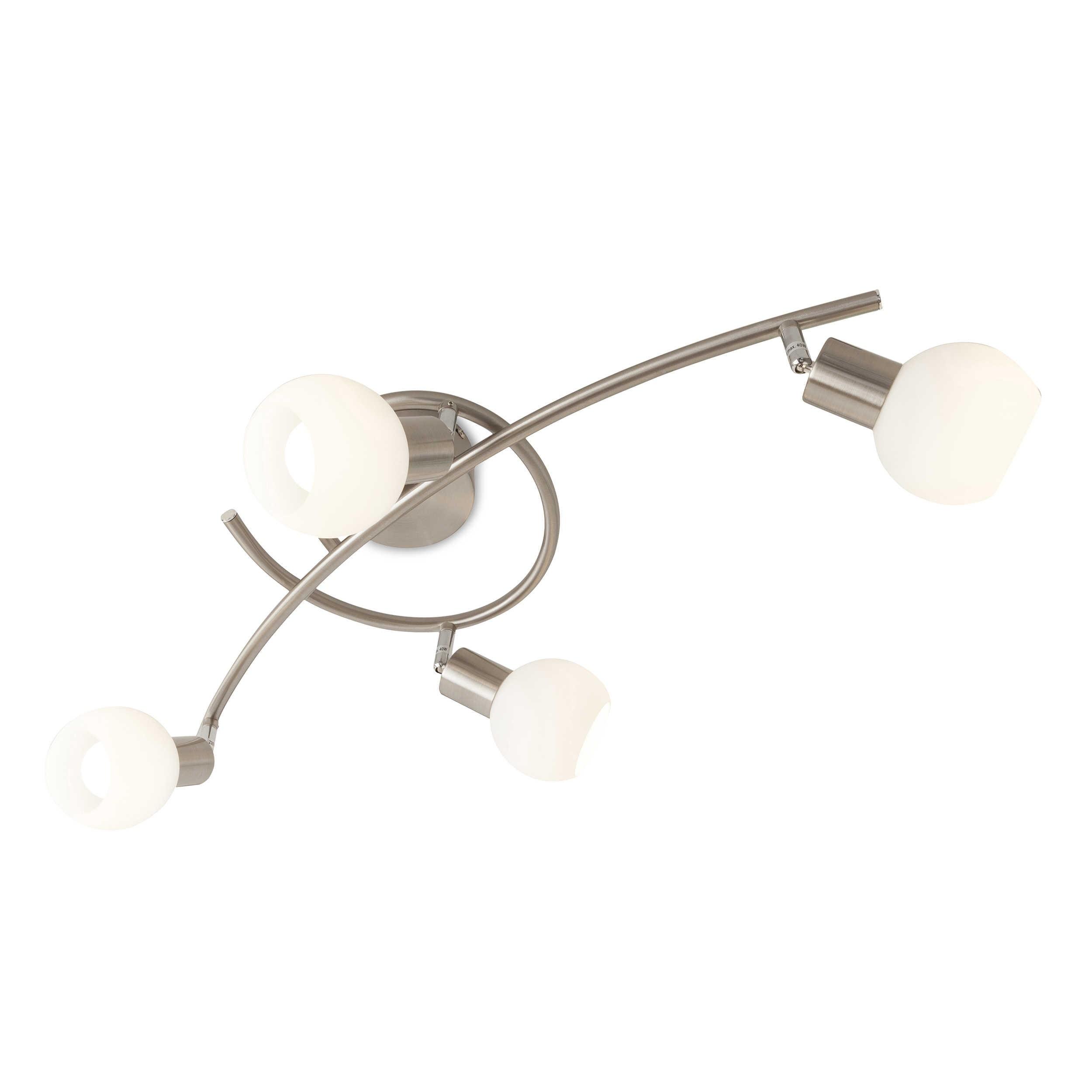 reality leuchten led deckenleuchte loxy a nickel chrom alu nickel stahl online kaufen bei woonio. Black Bedroom Furniture Sets. Home Design Ideas