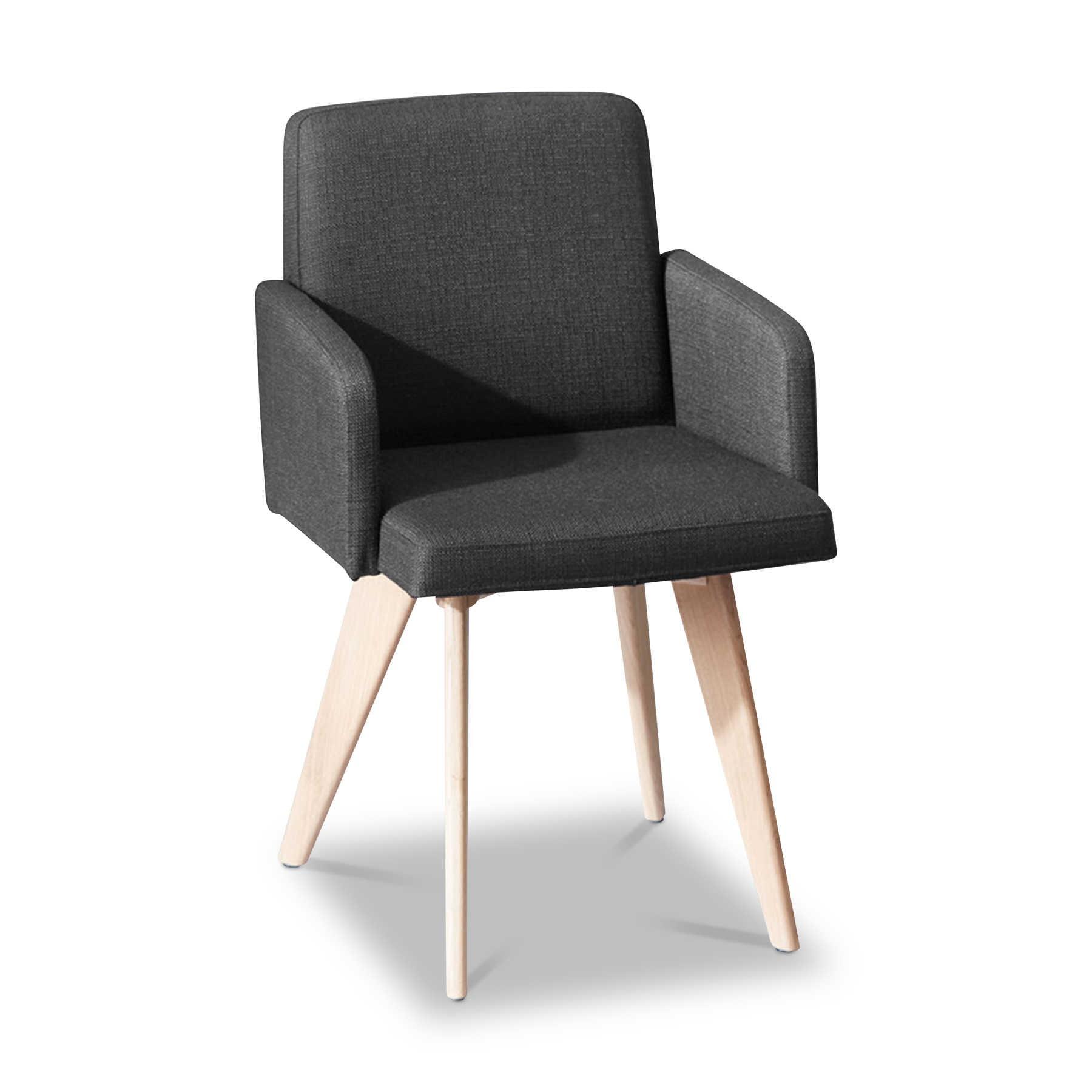 sch ner wohnen stuhl craft 0663 grau leder online kaufen bei woonio. Black Bedroom Furniture Sets. Home Design Ideas