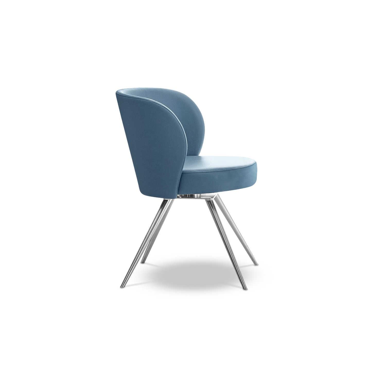 Schöner Wohnen Stuhl Turn S212 Blau Leder Online Kaufen Bei WOONIO