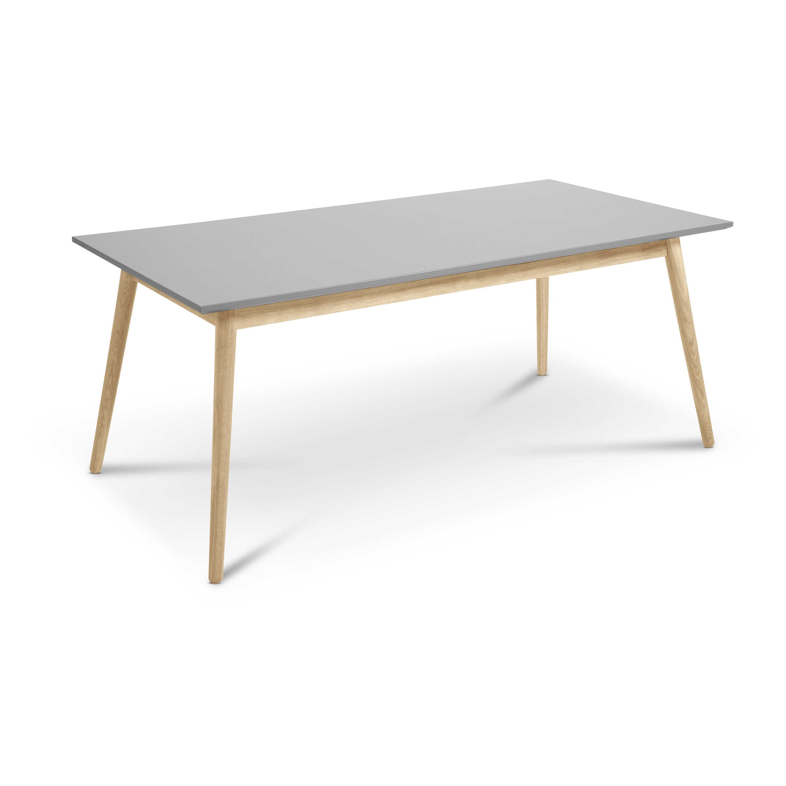 tenzo esstisch dot 180 x 90 cm grau lack hochglanz online kaufen bei woonio. Black Bedroom Furniture Sets. Home Design Ideas