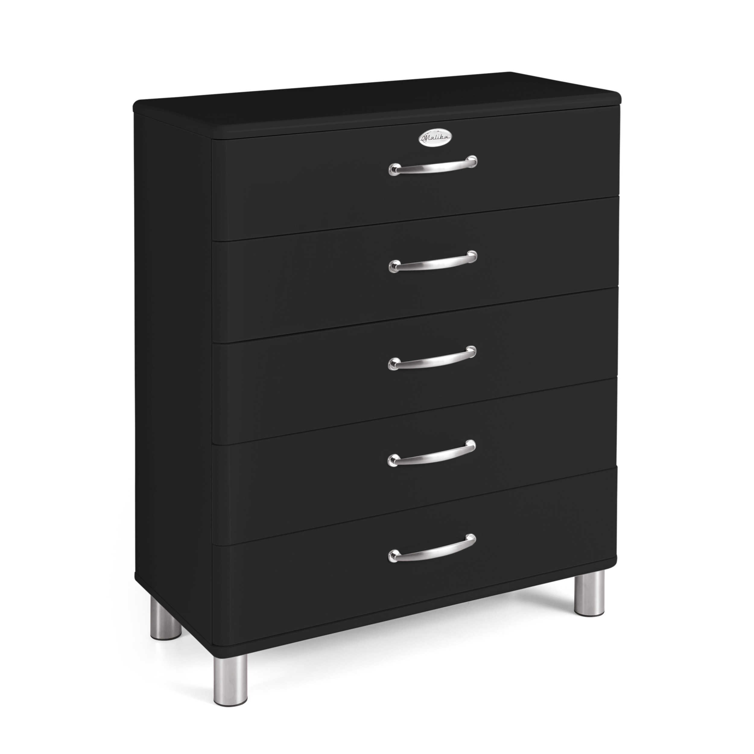 tenzo kommode malibu schwarz lack hochglanz online kaufen bei woonio. Black Bedroom Furniture Sets. Home Design Ideas
