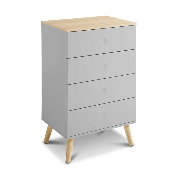 tenzo sideboard dot grau lack hochglanz online kaufen bei woonio. Black Bedroom Furniture Sets. Home Design Ideas