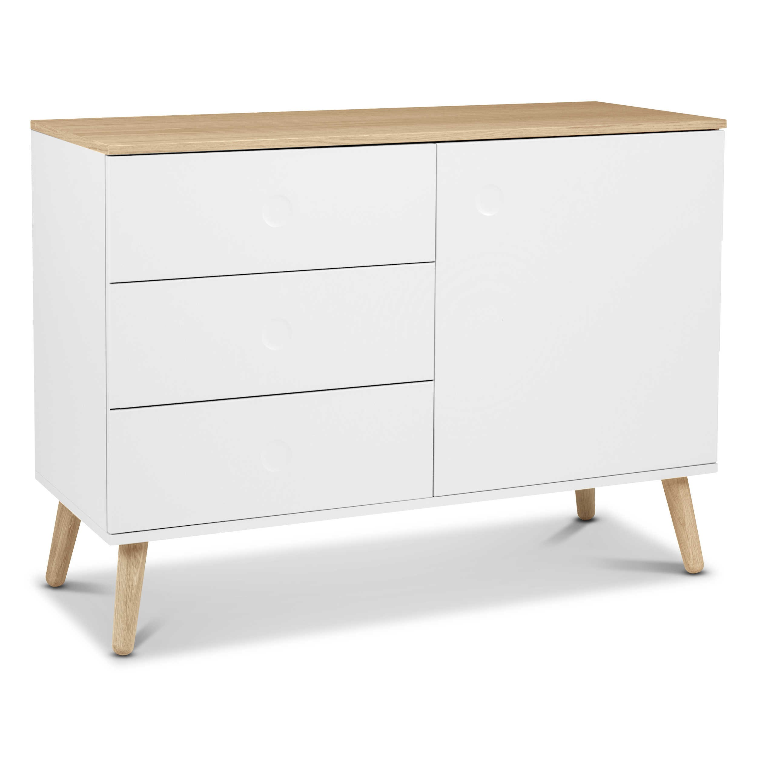tenzo sideboard dot wei lack hochglanz online kaufen bei woonio. Black Bedroom Furniture Sets. Home Design Ideas