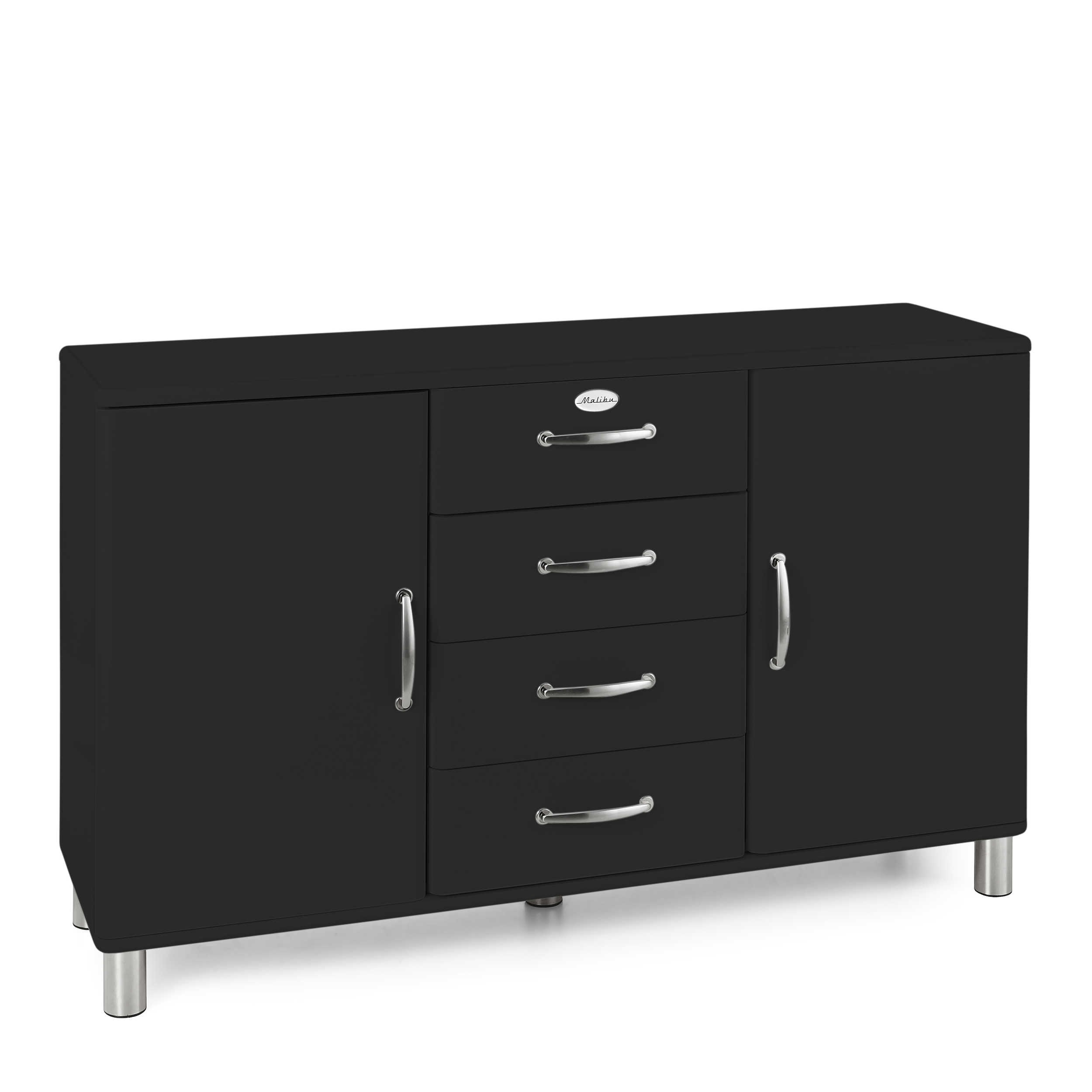 tenzo sideboard malibu schwarz lack hochglanz online. Black Bedroom Furniture Sets. Home Design Ideas