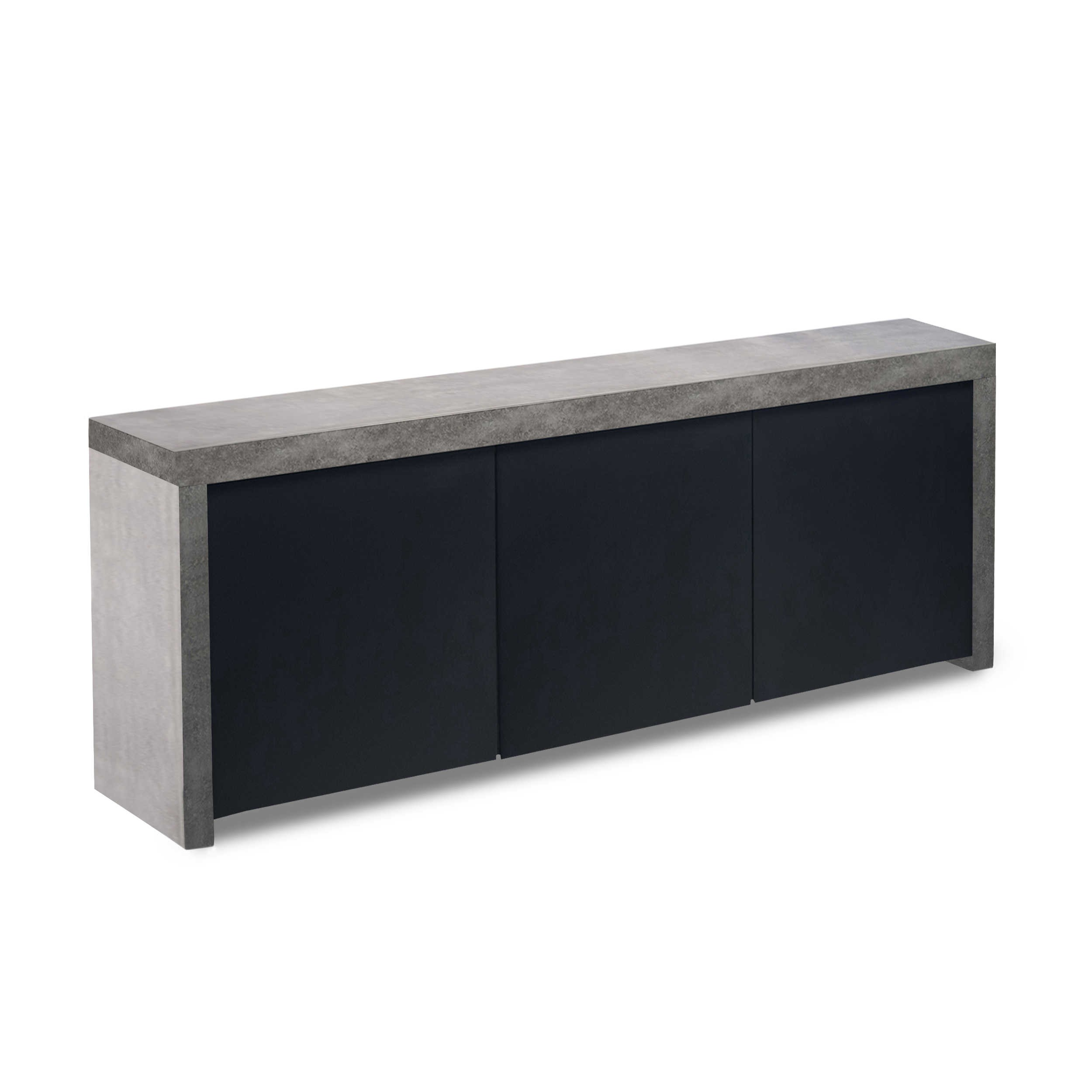 temahome sideboard pombal grau lack hochglanz online kaufen bei woonio. Black Bedroom Furniture Sets. Home Design Ideas