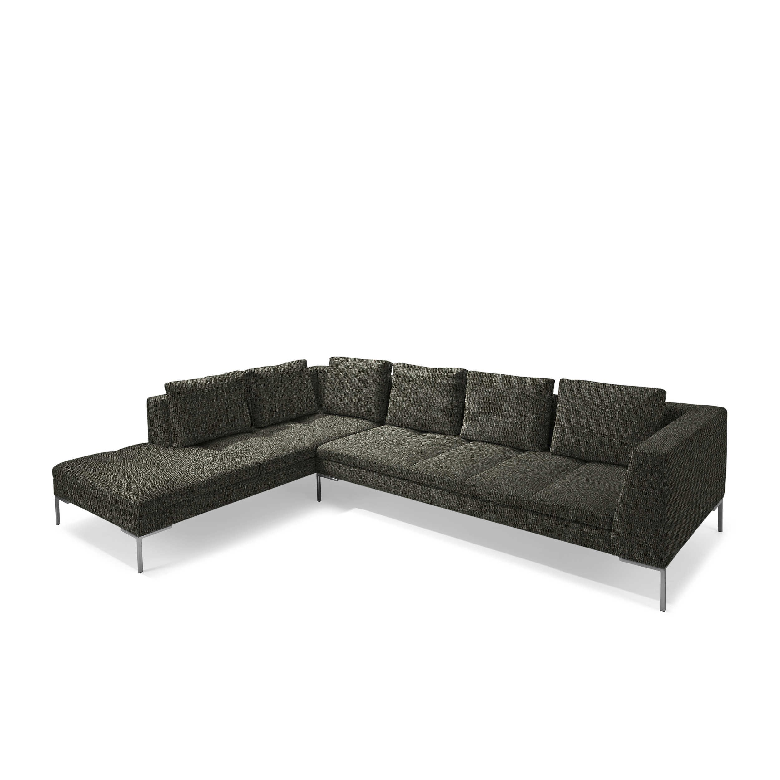 theca ecksofa mondovi schwarz stoff online kaufen bei woonio. Black Bedroom Furniture Sets. Home Design Ideas