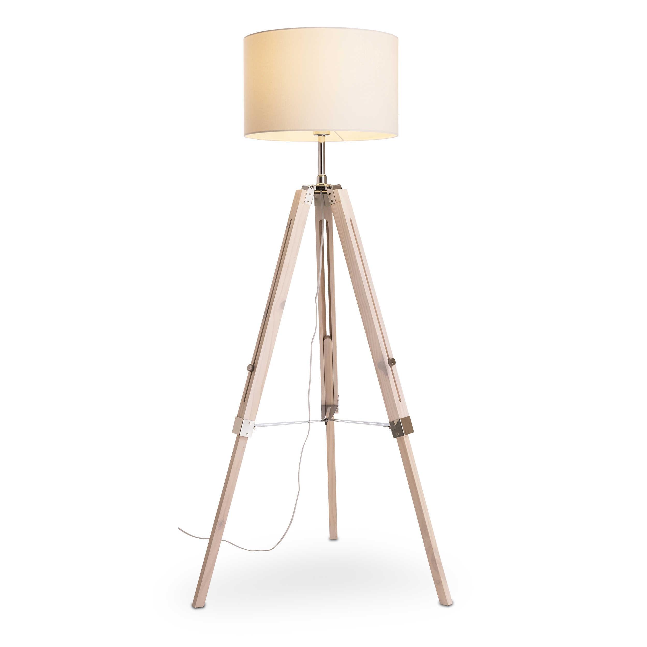 trio stehlampe gent a wei holz online kaufen bei woonio. Black Bedroom Furniture Sets. Home Design Ideas