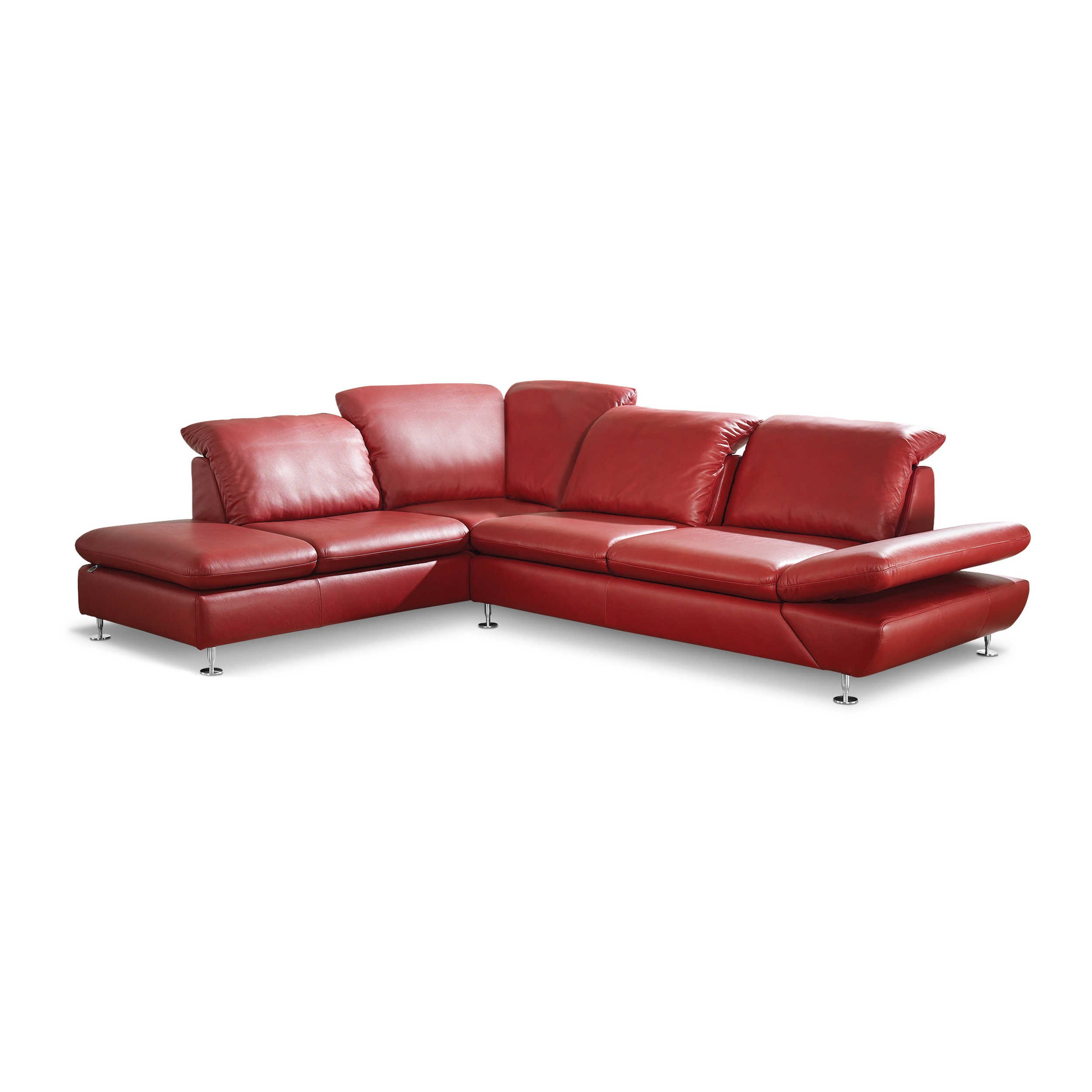 willi schillig ecksofa 15278 taoo rot leder online kaufen bei woonio. Black Bedroom Furniture Sets. Home Design Ideas