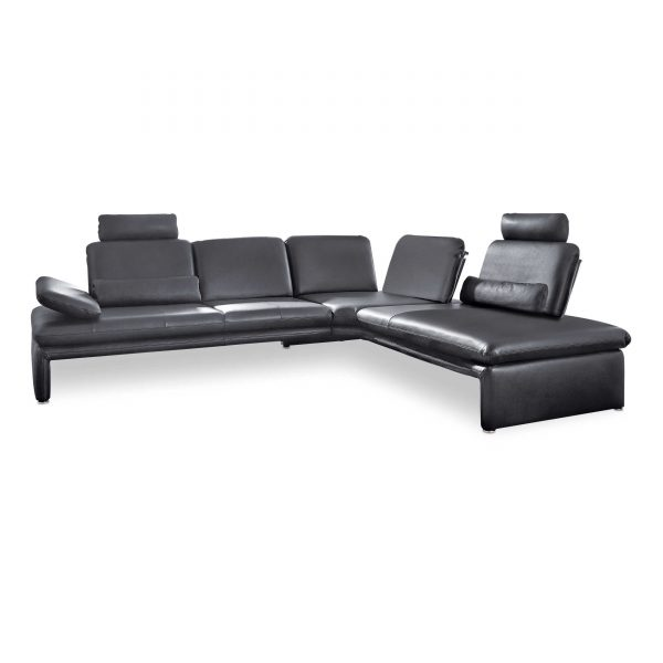 willi schillig ecksofa 16700 brooklyn schwarz leder online kaufen bei woonio. Black Bedroom Furniture Sets. Home Design Ideas