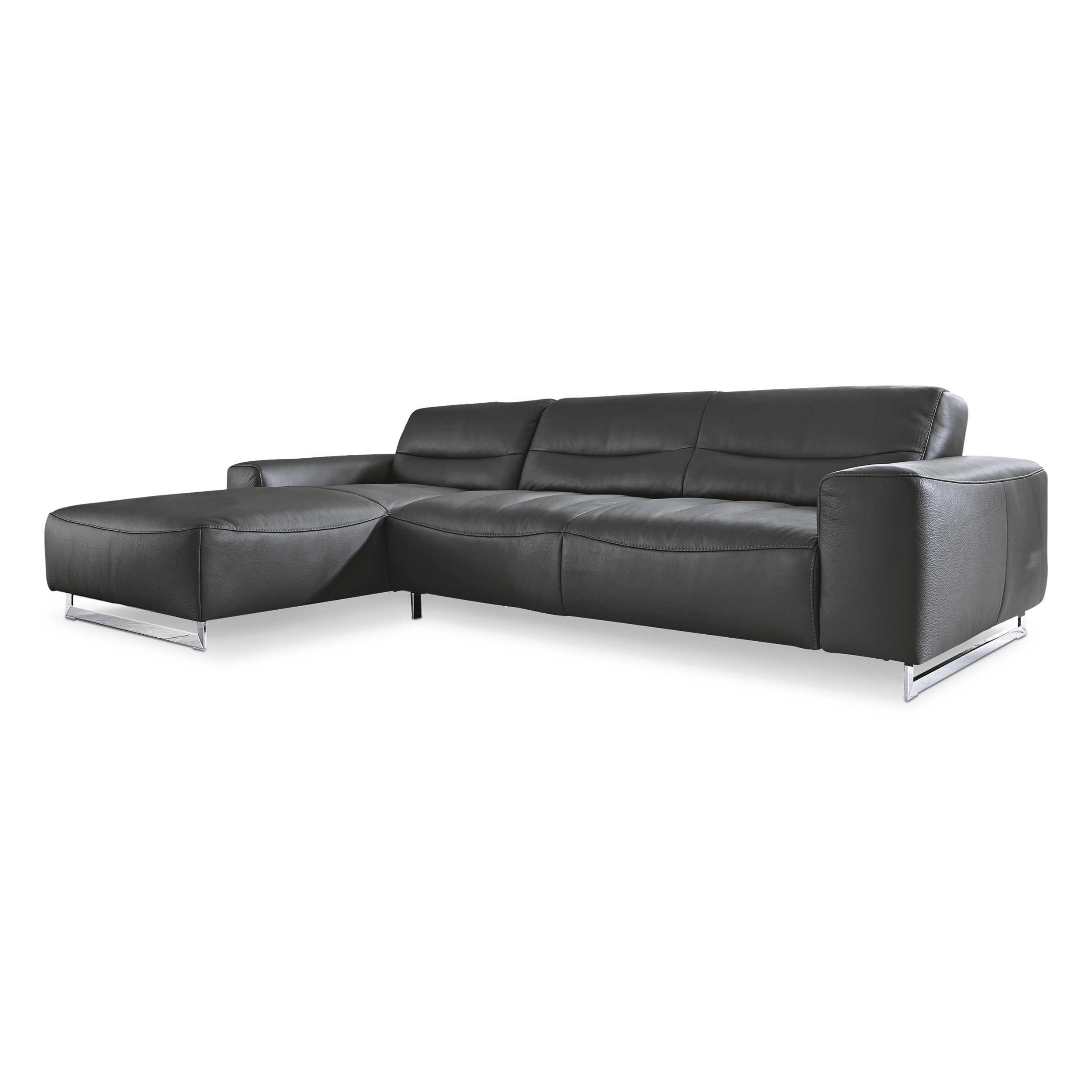 willi schillig ecksofa 20560 william anthrazit leder. Black Bedroom Furniture Sets. Home Design Ideas