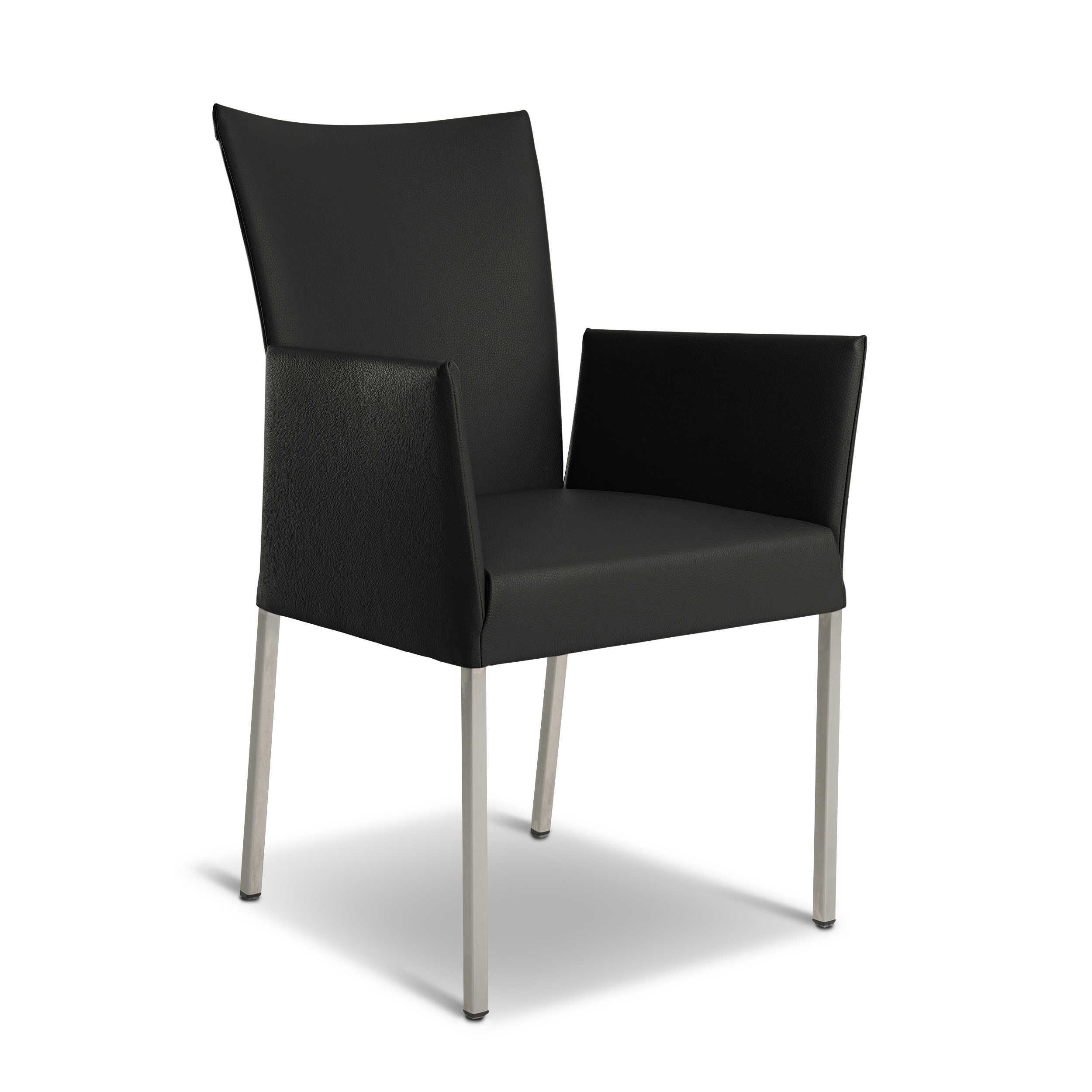bert plantagie stuhl felp 2er set schwarz leder online kaufen bei woonio. Black Bedroom Furniture Sets. Home Design Ideas