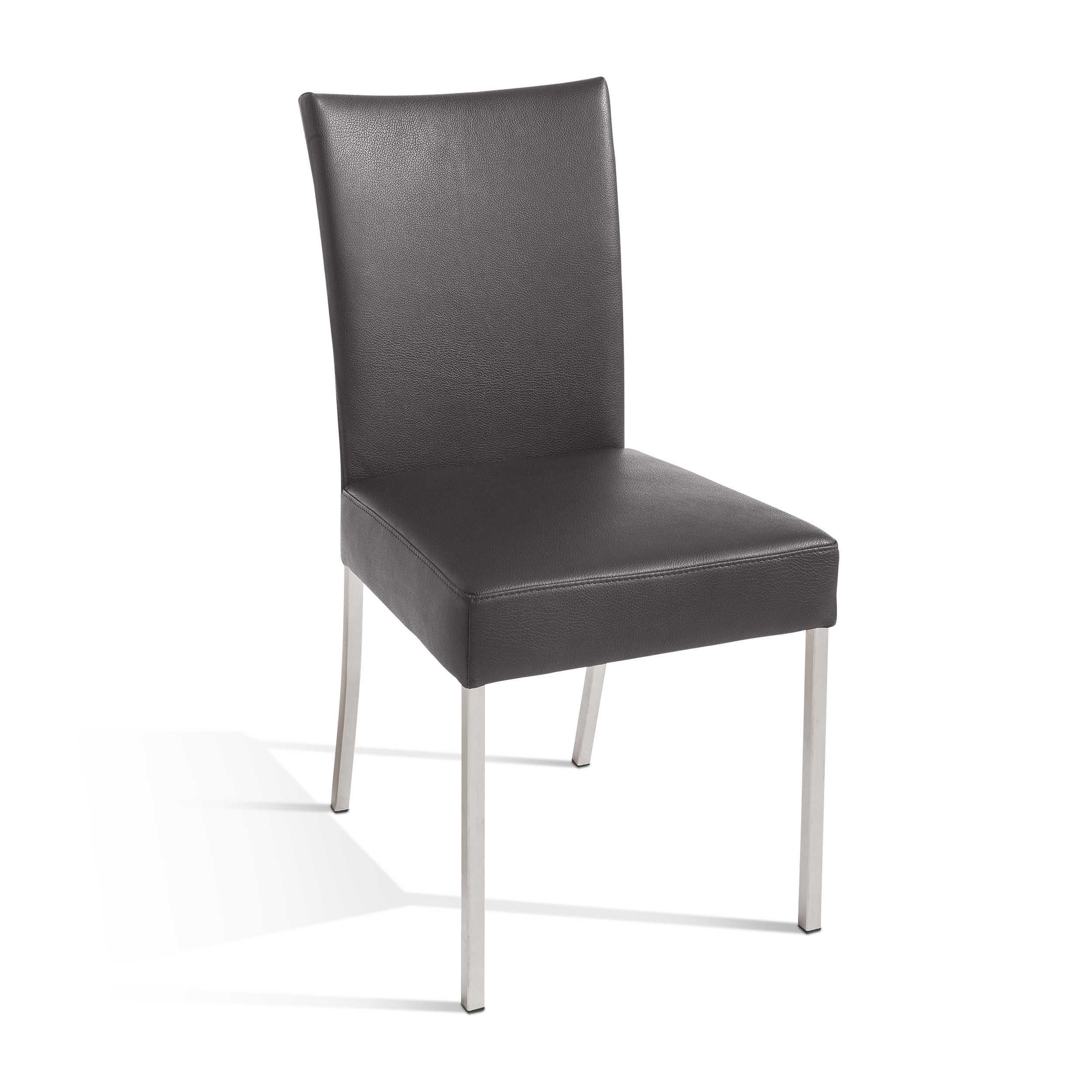 bert plantagie stuhl james grau leder online kaufen bei woonio. Black Bedroom Furniture Sets. Home Design Ideas