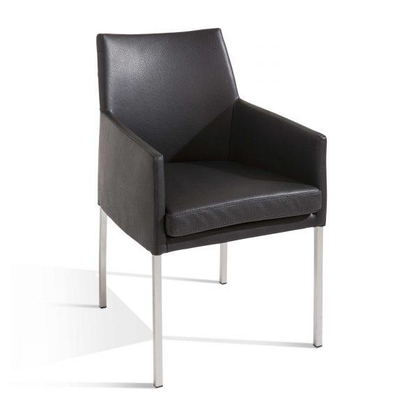 bert plantagie stuhl luck e schwarz leder online kaufen. Black Bedroom Furniture Sets. Home Design Ideas