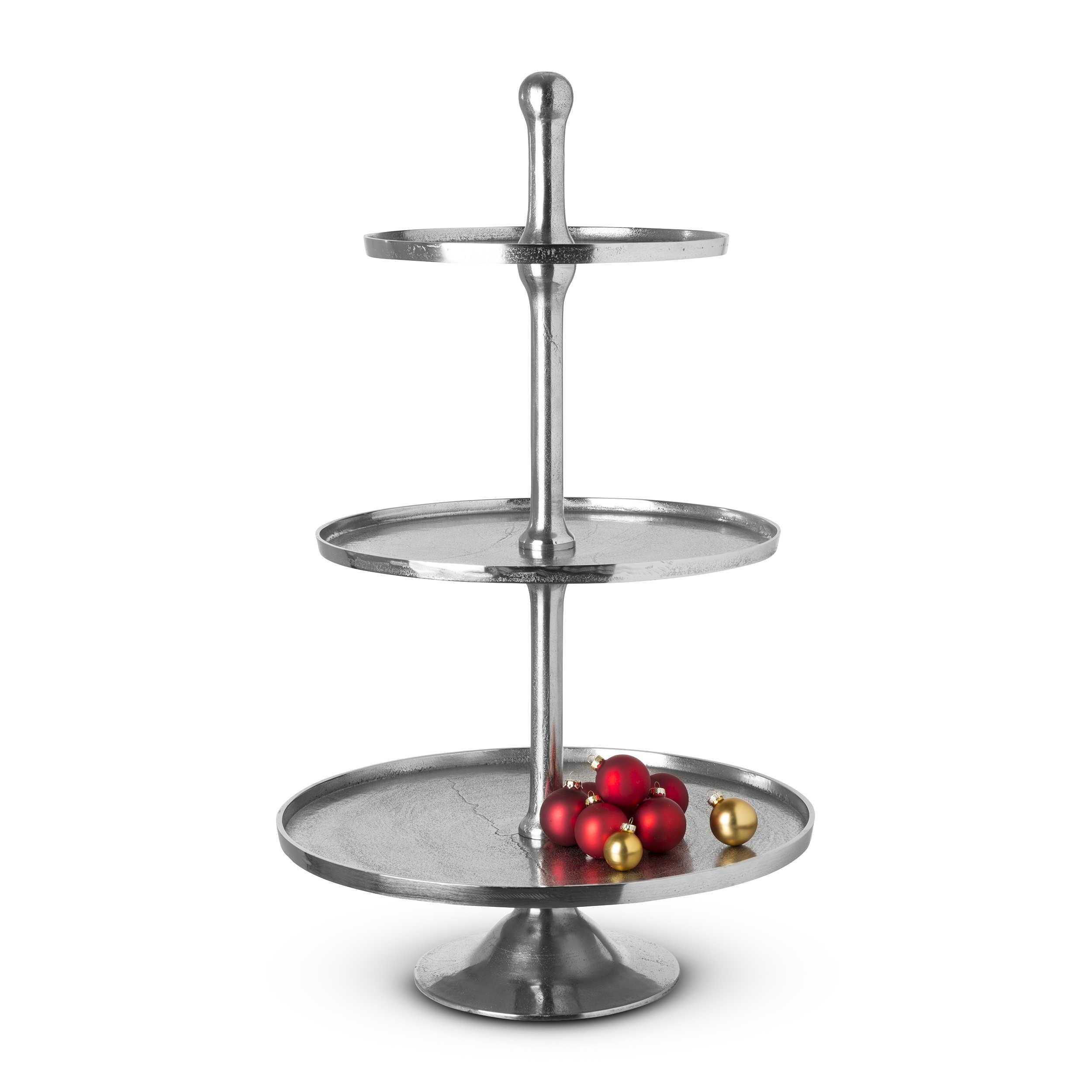 3 st ckige etagere alu vernickelt 97 cm silber alu eisen stahl metall online. Black Bedroom Furniture Sets. Home Design Ideas
