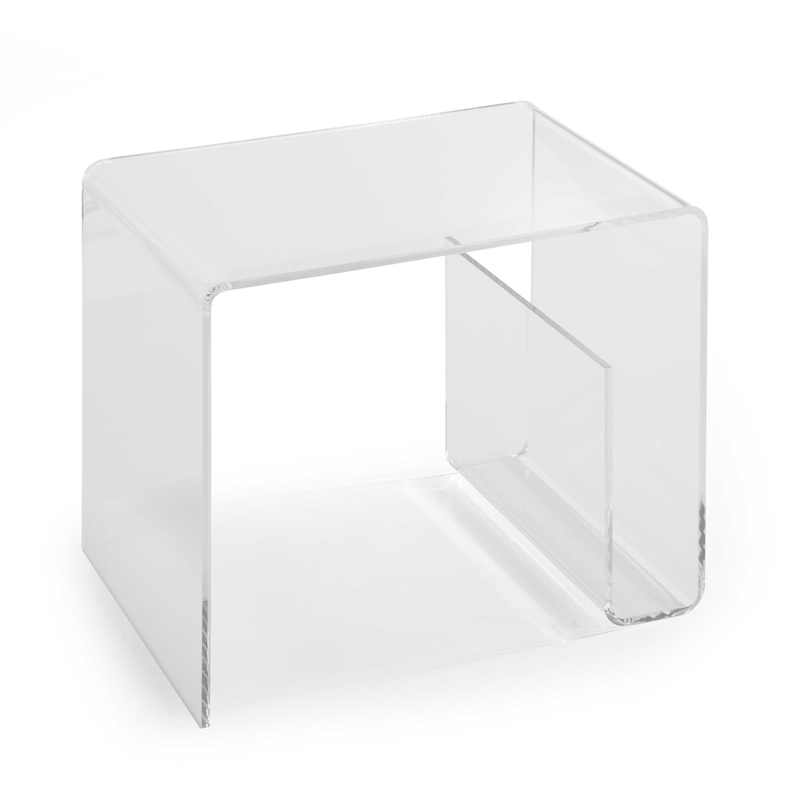 beistelltisch cusago transparent acryl 48 cm online kaufen bei woonio. Black Bedroom Furniture Sets. Home Design Ideas