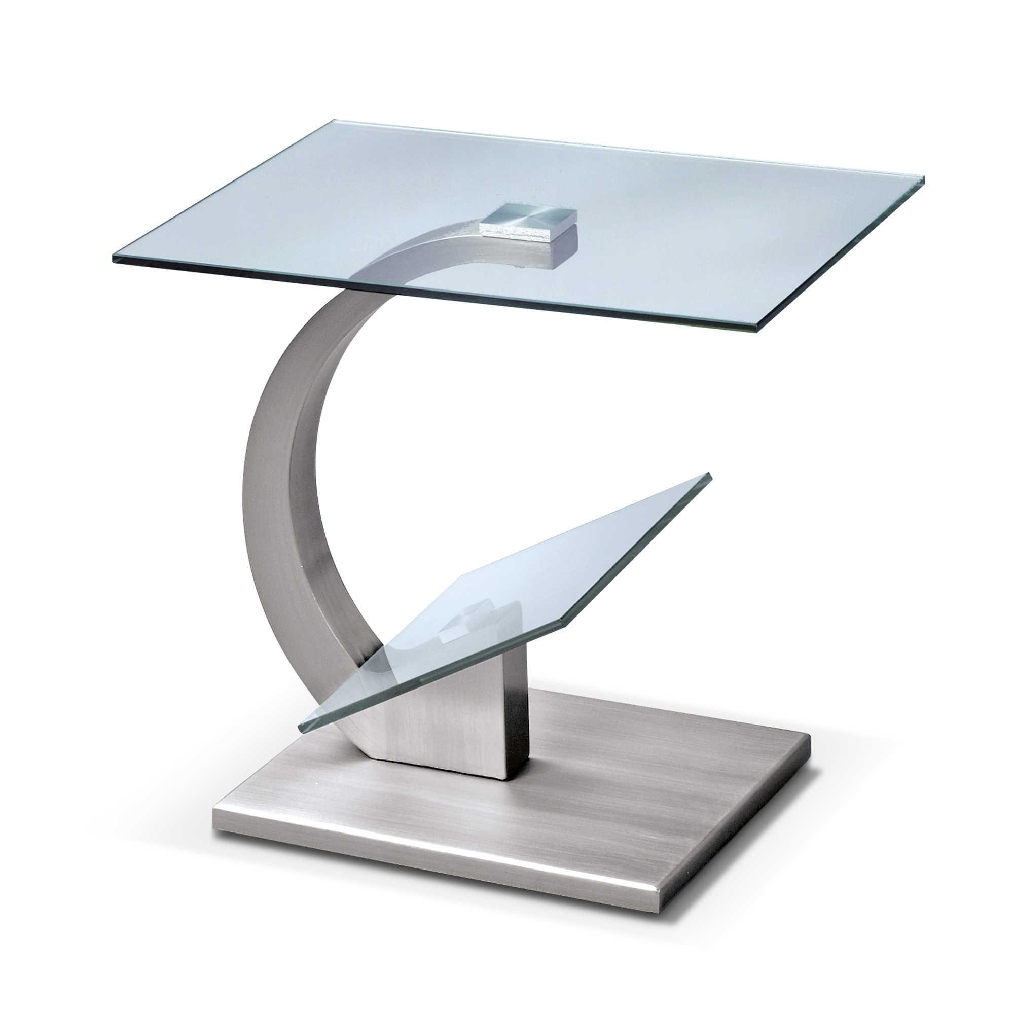 beistelltisch divina silber alu eisen stahl. Black Bedroom Furniture Sets. Home Design Ideas