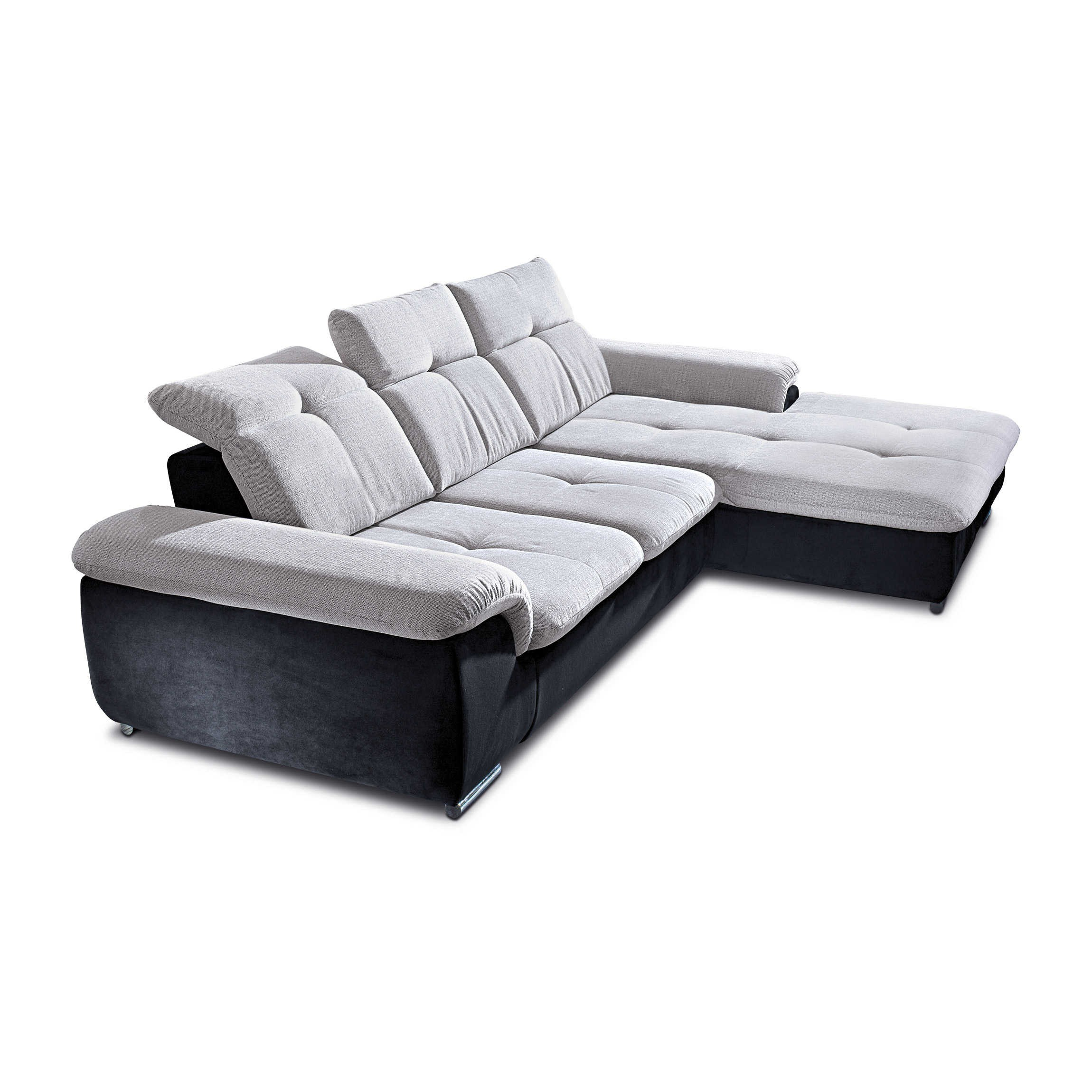 ecksofa andy grau stoff online kaufen bei woonio. Black Bedroom Furniture Sets. Home Design Ideas