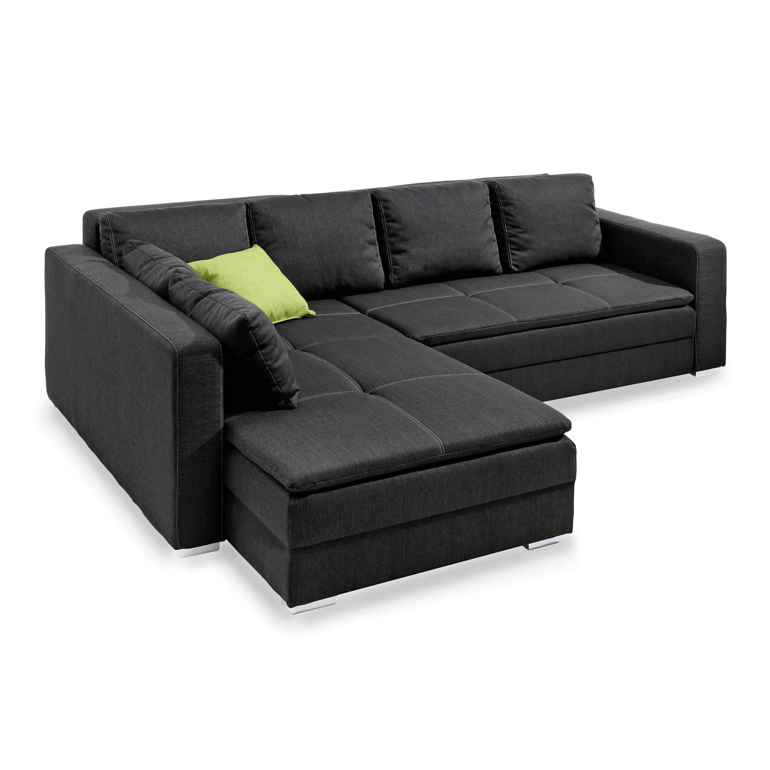 ecksofa domino anthrazit stoff online kaufen bei woonio. Black Bedroom Furniture Sets. Home Design Ideas