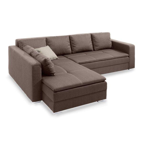 ecksofa domino braun stoff online kaufen bei woonio. Black Bedroom Furniture Sets. Home Design Ideas
