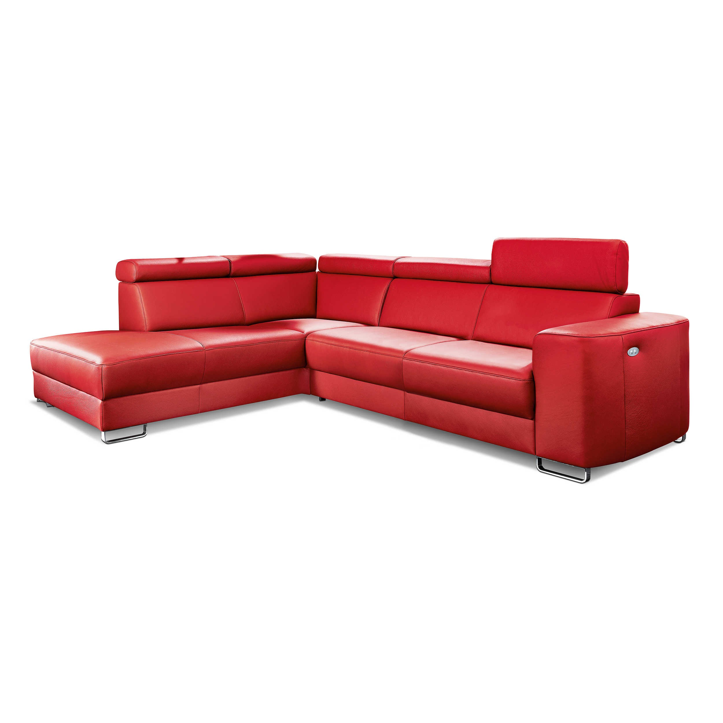 ecksofa simon rot leder online kaufen bei woonio. Black Bedroom Furniture Sets. Home Design Ideas