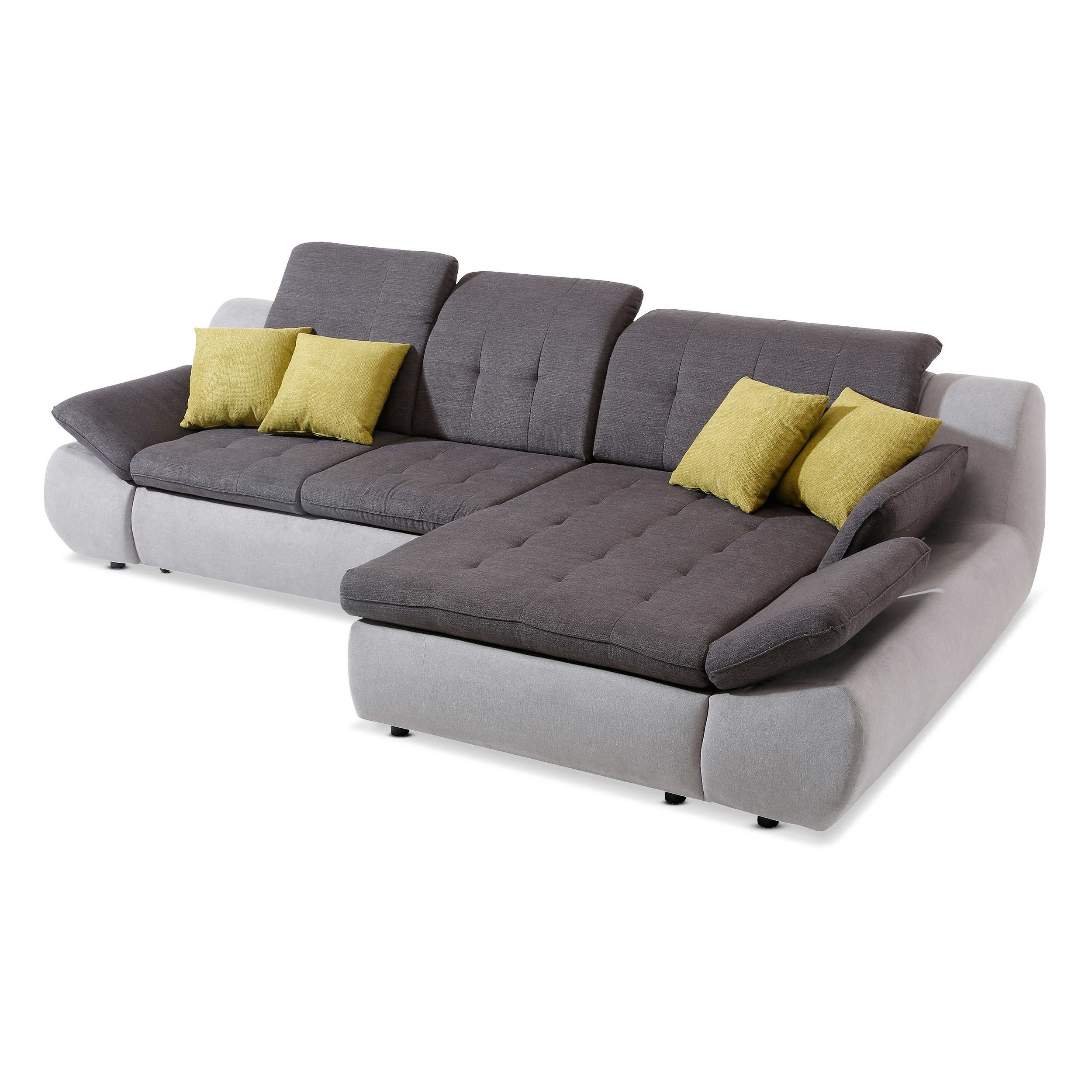 ecksofa smile grau stoff online kaufen bei woonio. Black Bedroom Furniture Sets. Home Design Ideas