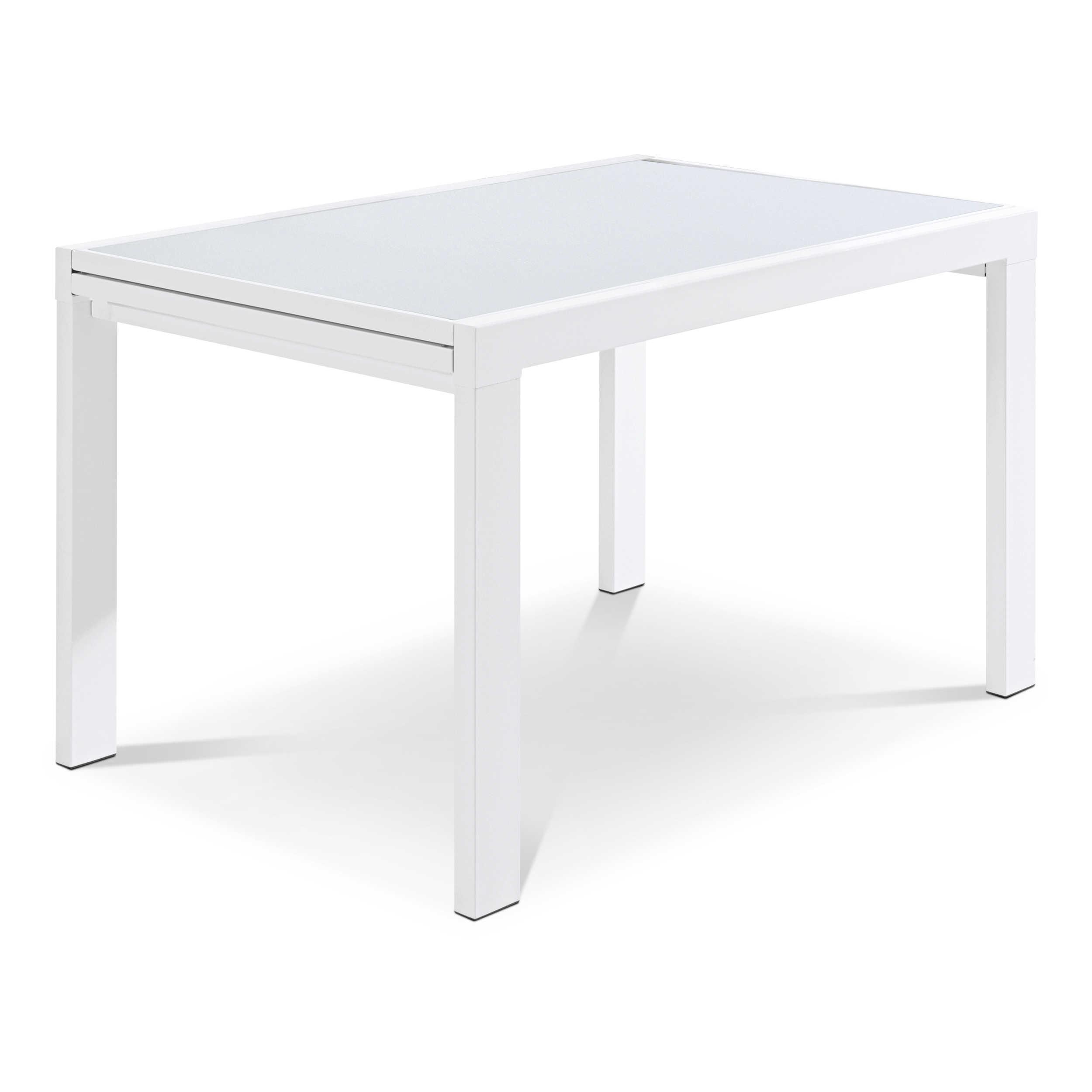 esstisch mit auszug amaro 90 180 x 90 cm transparent glas online kaufen bei woonio. Black Bedroom Furniture Sets. Home Design Ideas