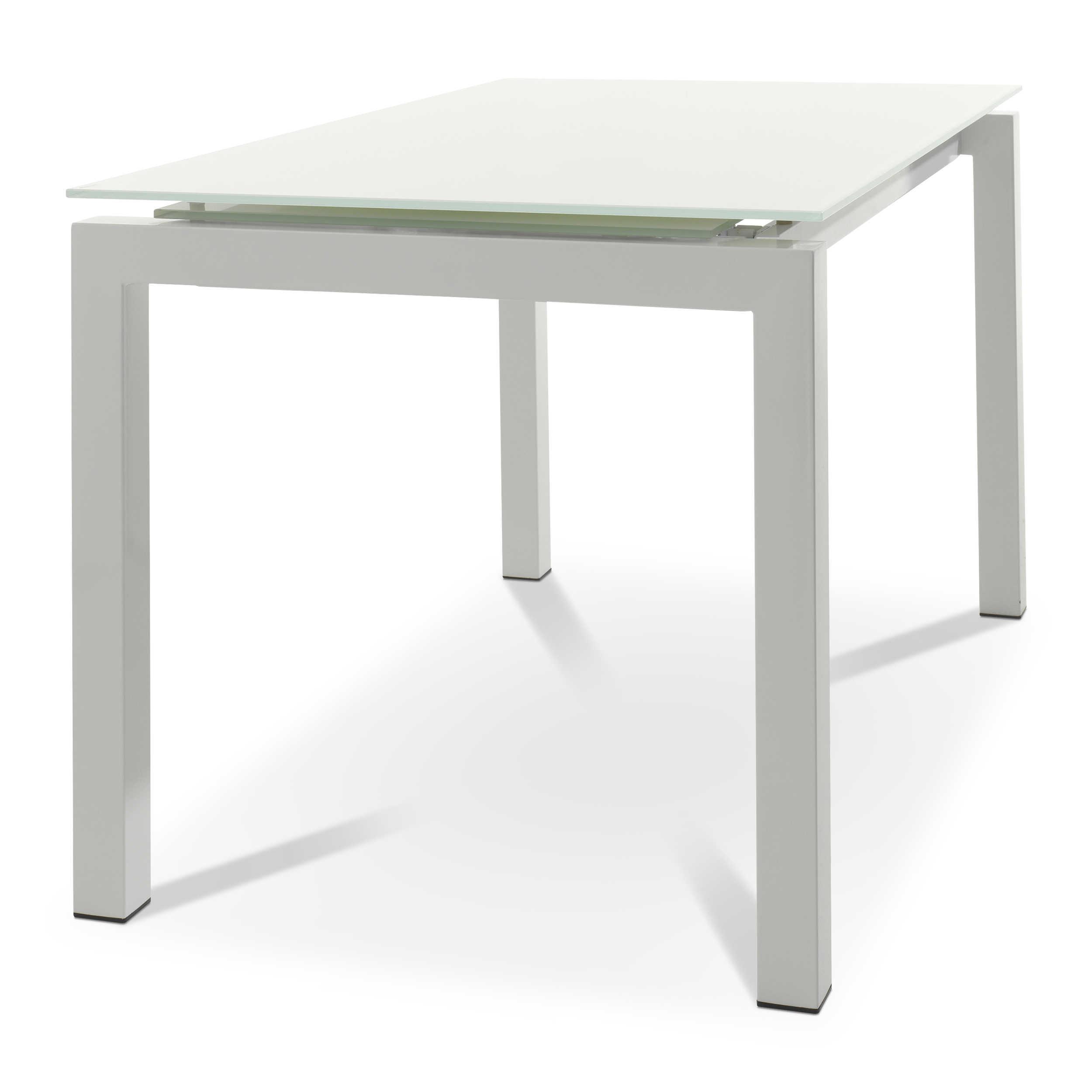 esstisch mit auszug sesto 130 190 x 80 cm wei glas online kaufen bei woonio. Black Bedroom Furniture Sets. Home Design Ideas