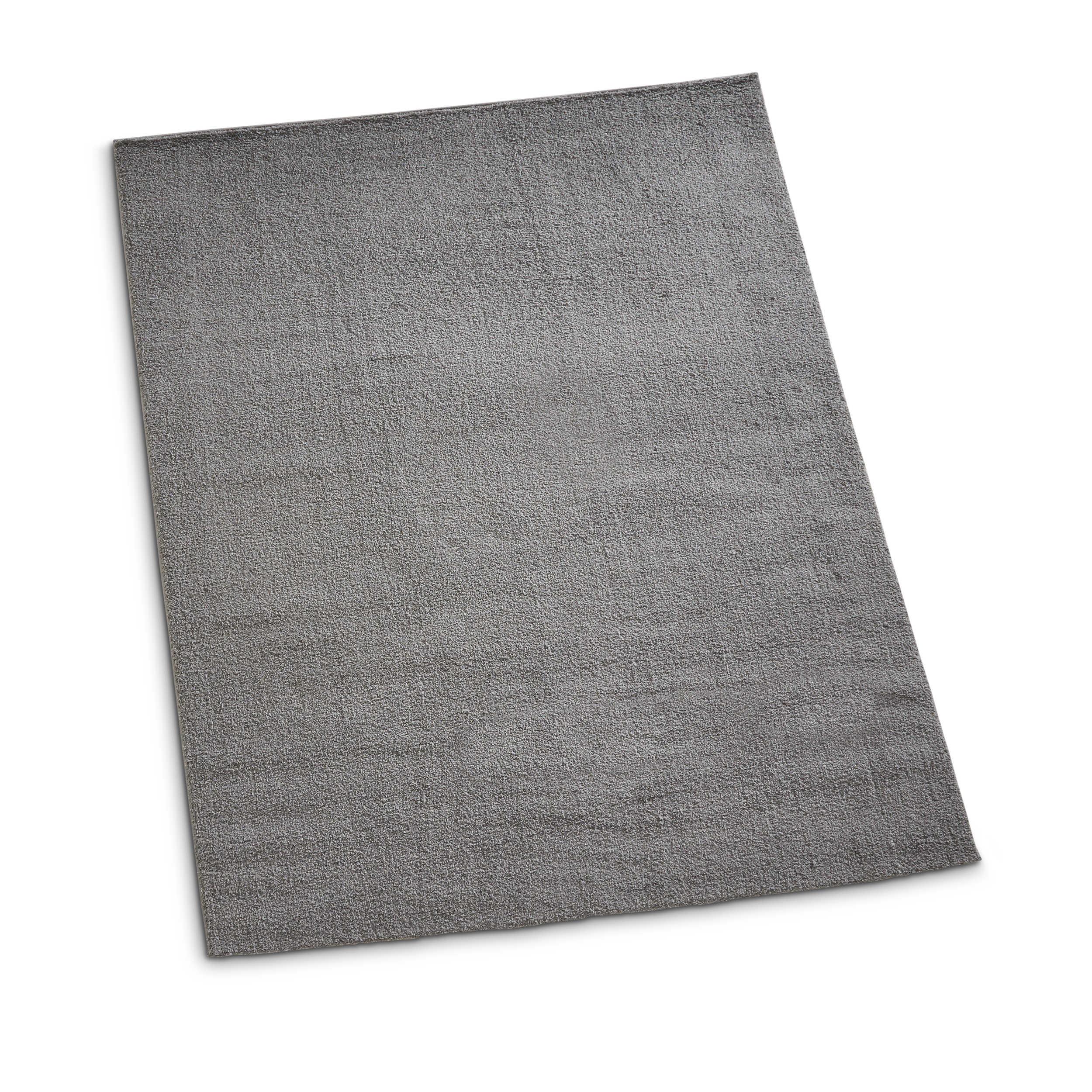 hochflor premio soft 160 x 230 cm grau mikrofaser 160 x 230 cm online kaufen bei woonio. Black Bedroom Furniture Sets. Home Design Ideas