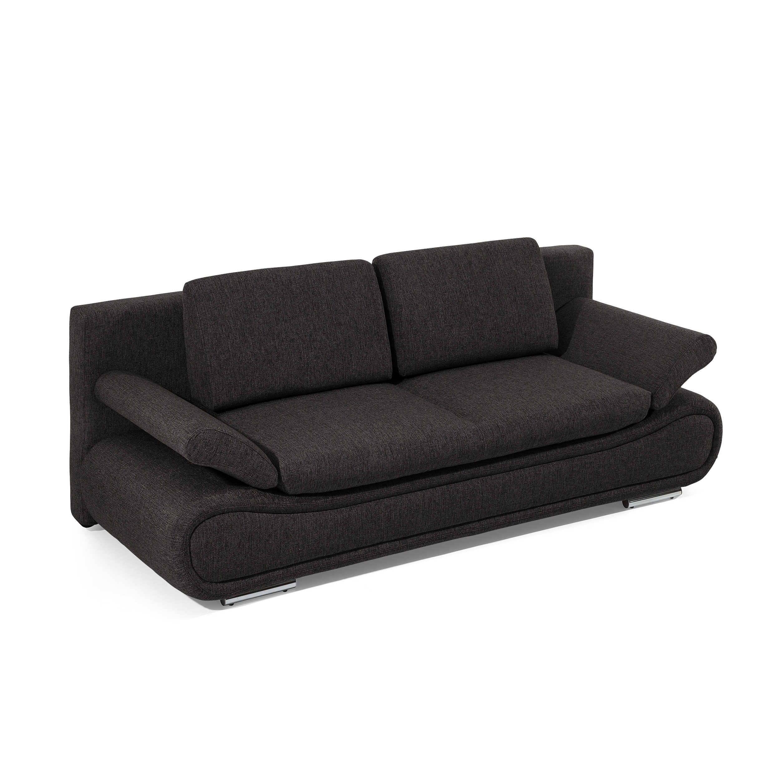 schlafsofa verena schwarz stoff online kaufen. Black Bedroom Furniture Sets. Home Design Ideas