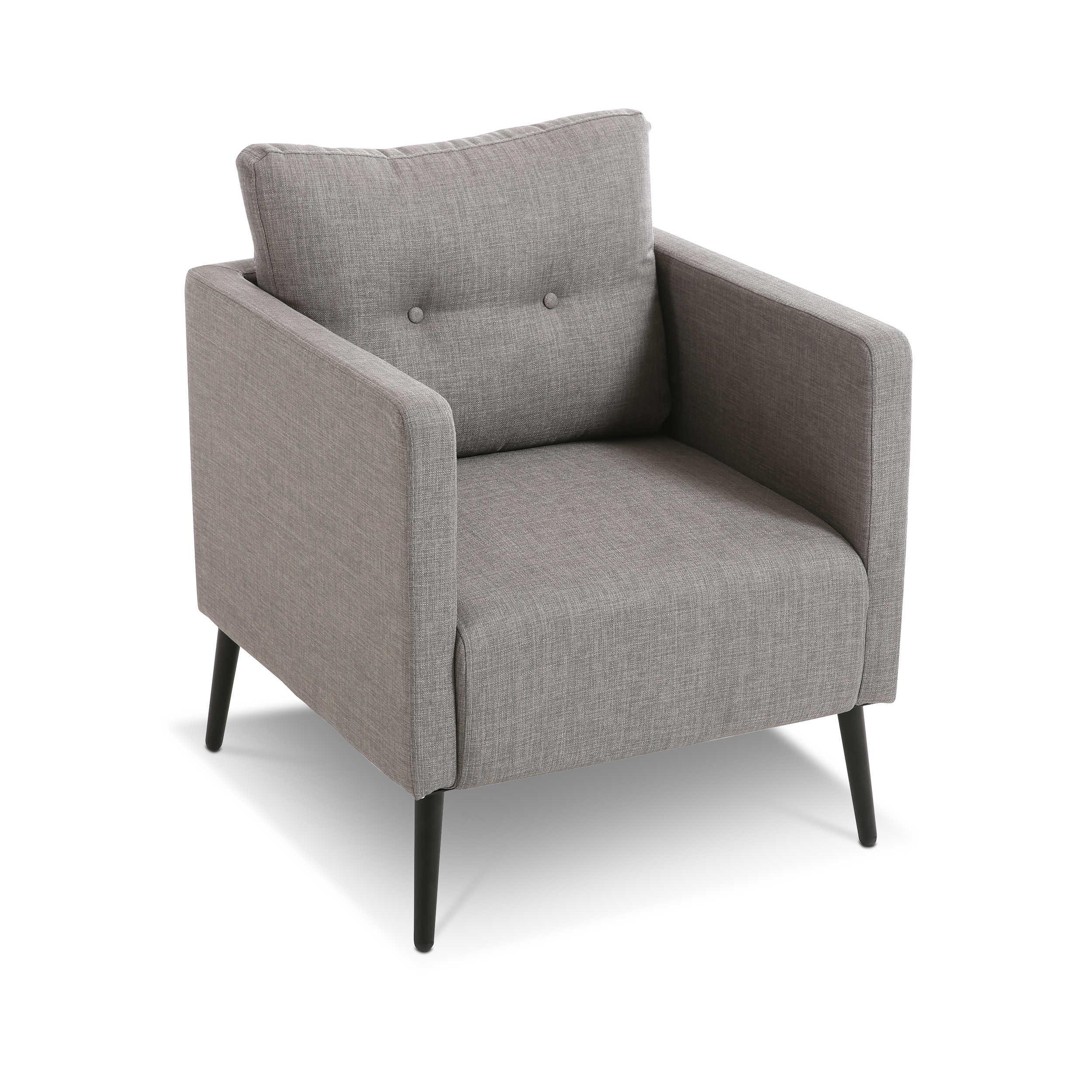 sessel lugano grau stoff online kaufen bei woonio. Black Bedroom Furniture Sets. Home Design Ideas